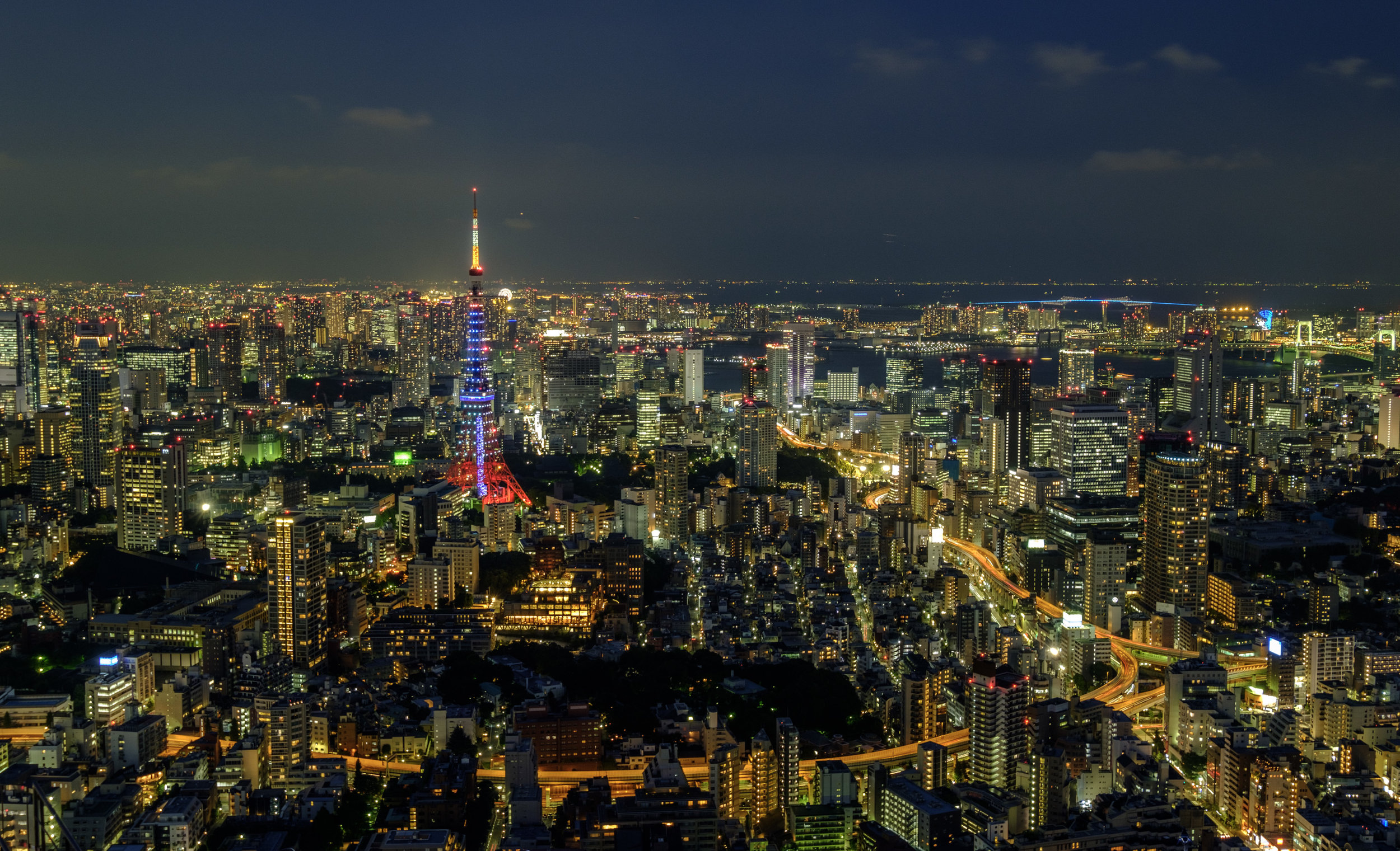 Tokyo Skyline - 24mm, F6.4, 3.5s at ISO200