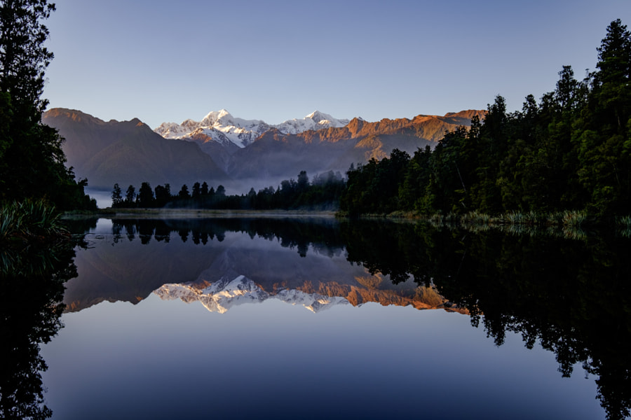Lake Matheson, a Fujifilm take.