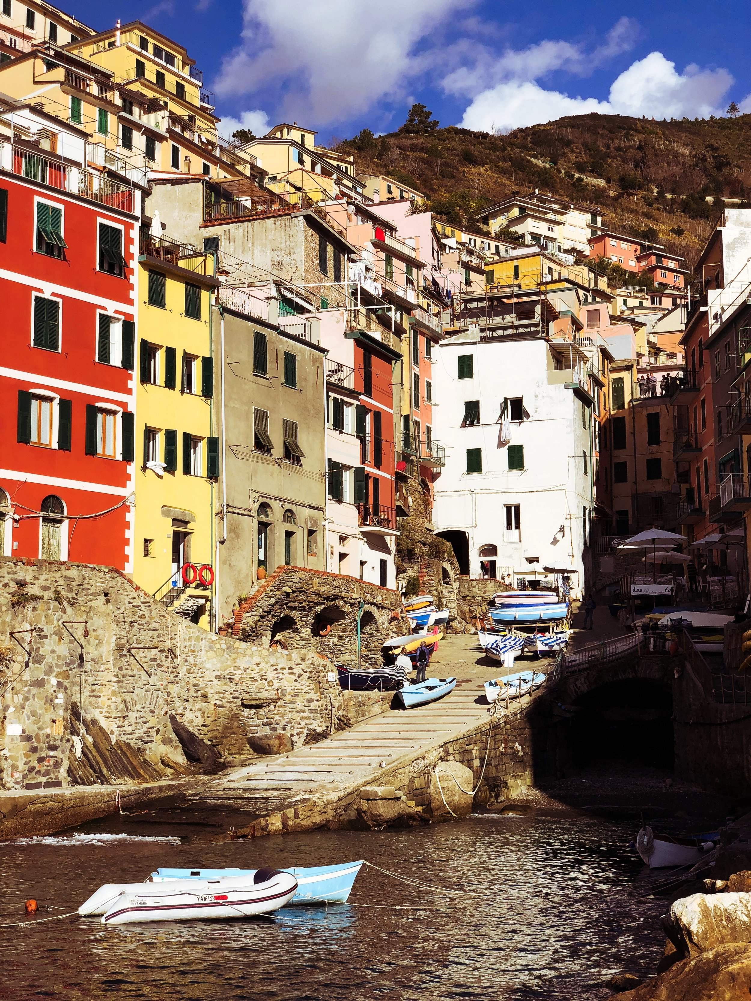 Riomaggiore with the nifty-fifty
