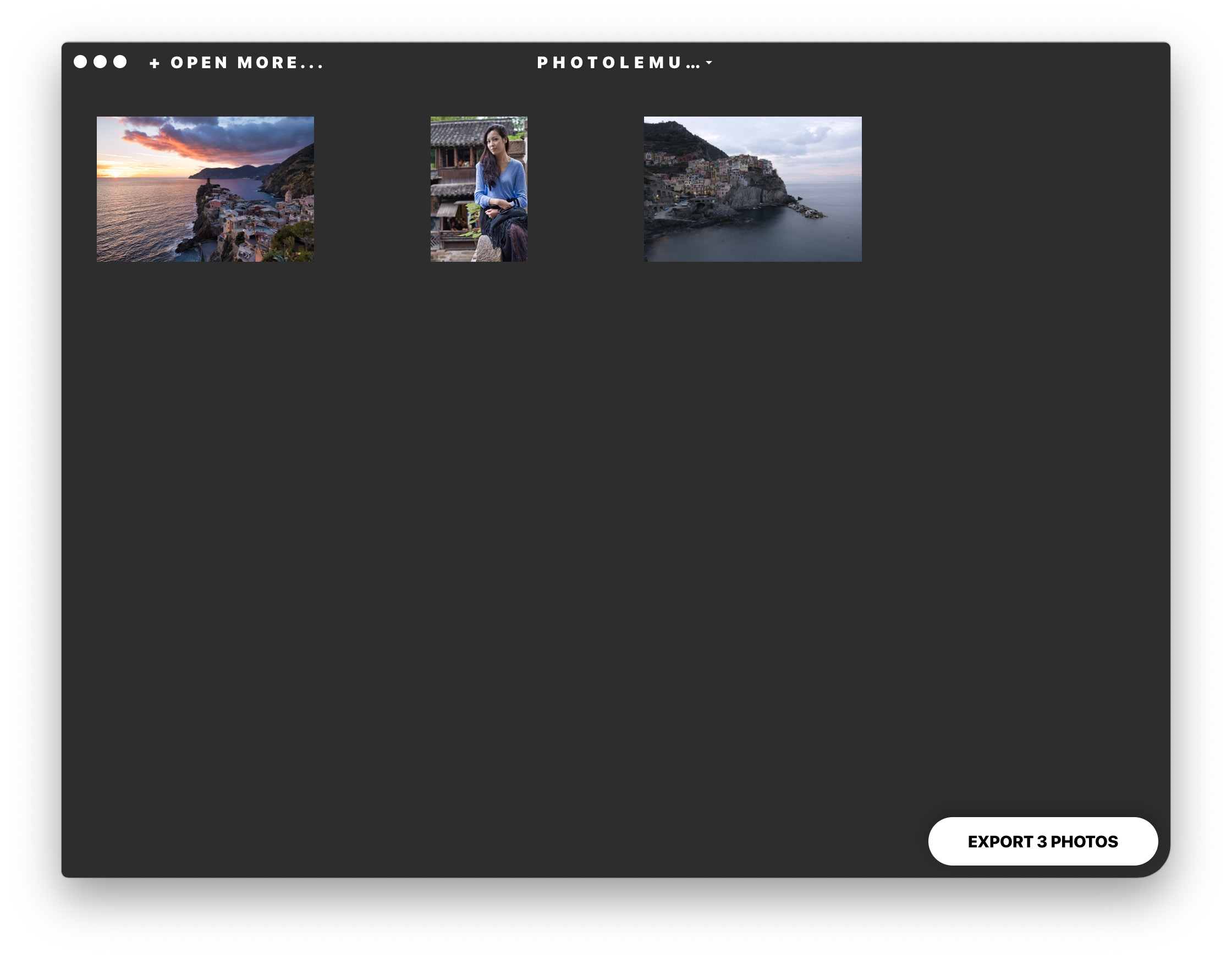 You can import multiple images and export them all at once.