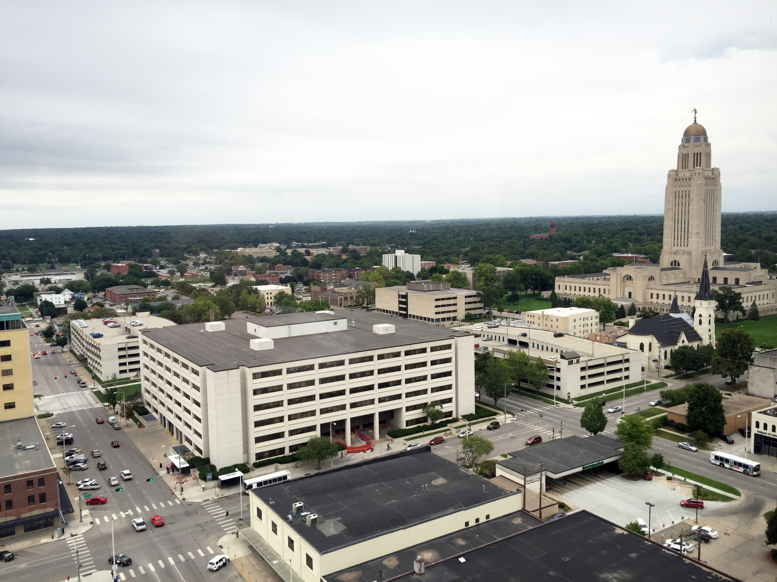 Overlooking Lincoln from the 20th Floor of the US Bank Building