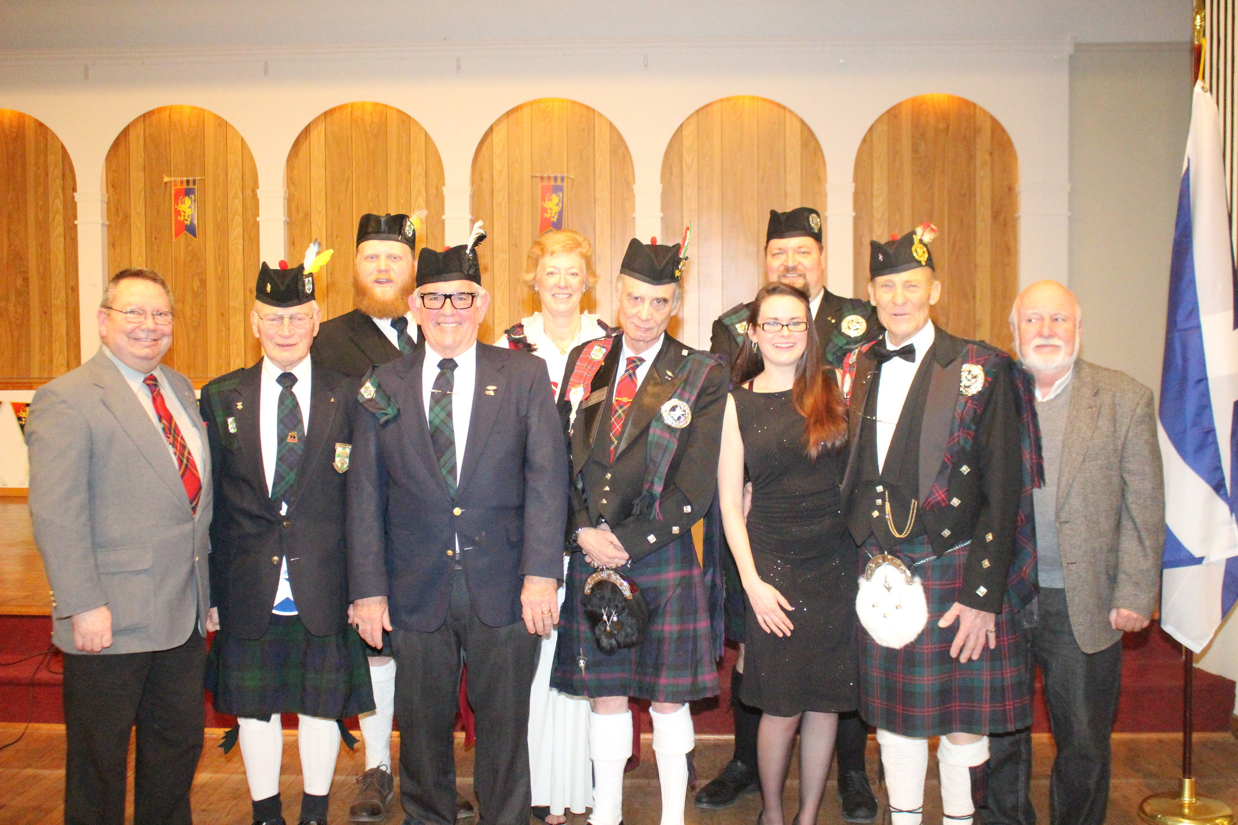 Lincoln Knights of St. Andrew at the 2016 Robert Burns Dinner