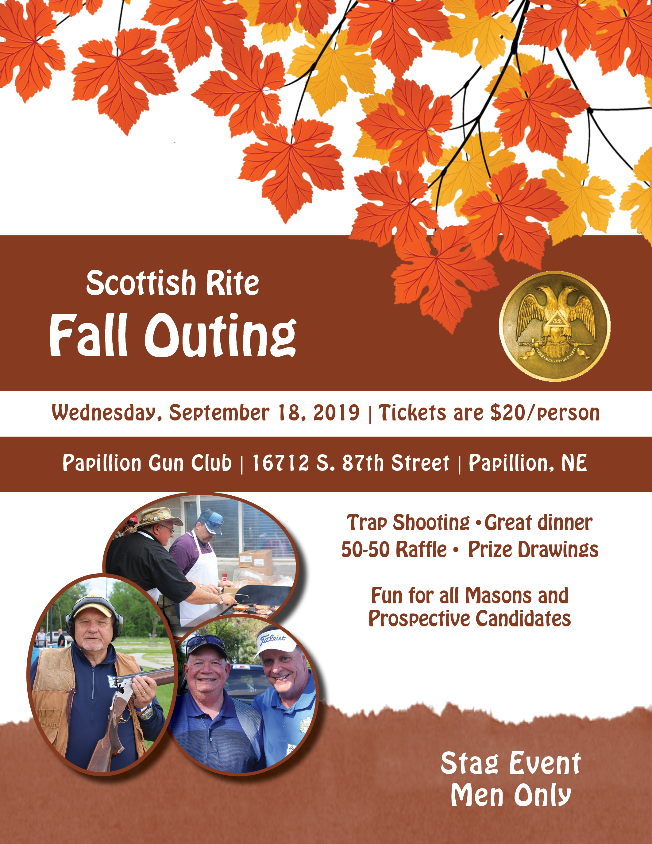 Click image above to download a PDF of the Fall Outing flier.