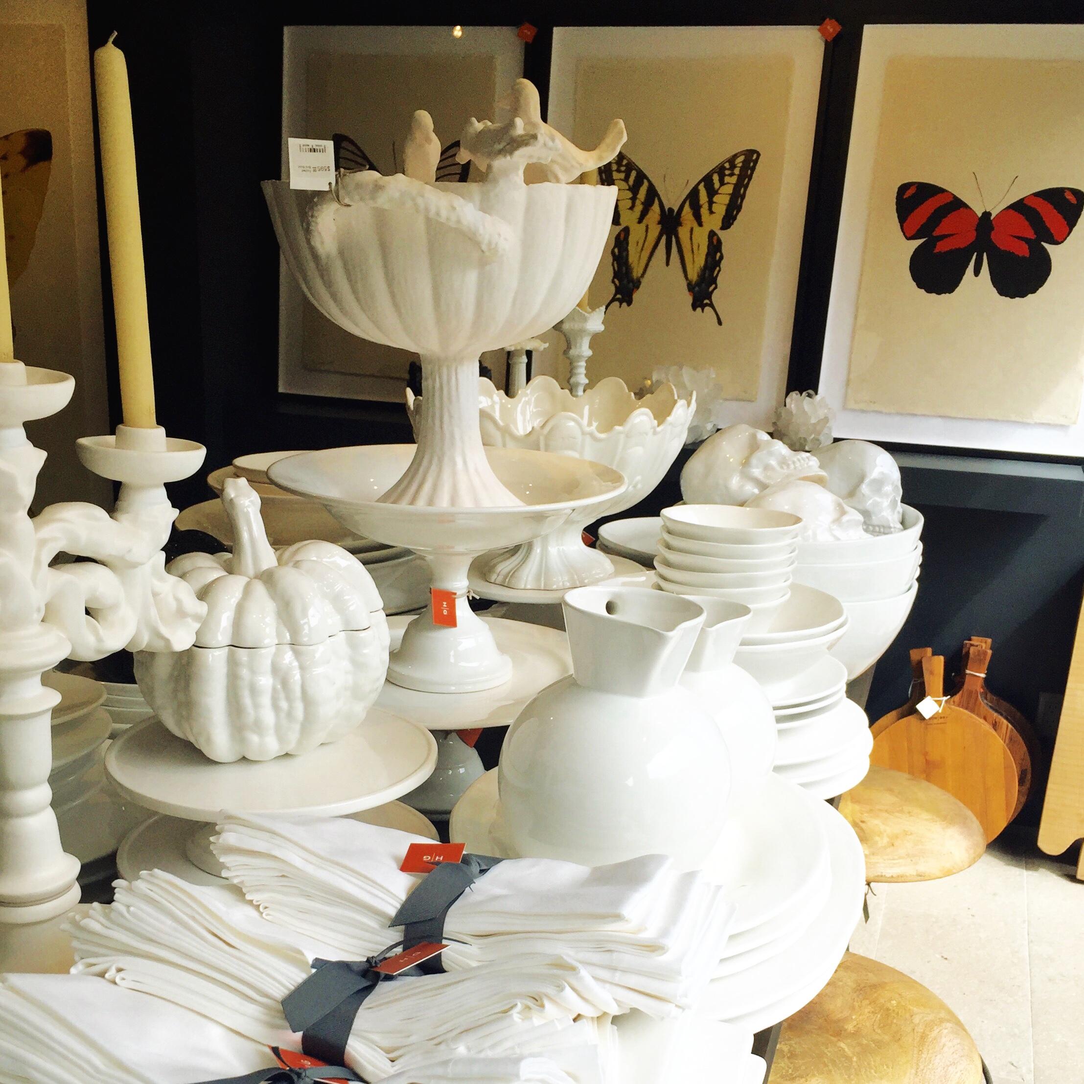 Beautiful tableware and linens at  Hudson Grace --job done.