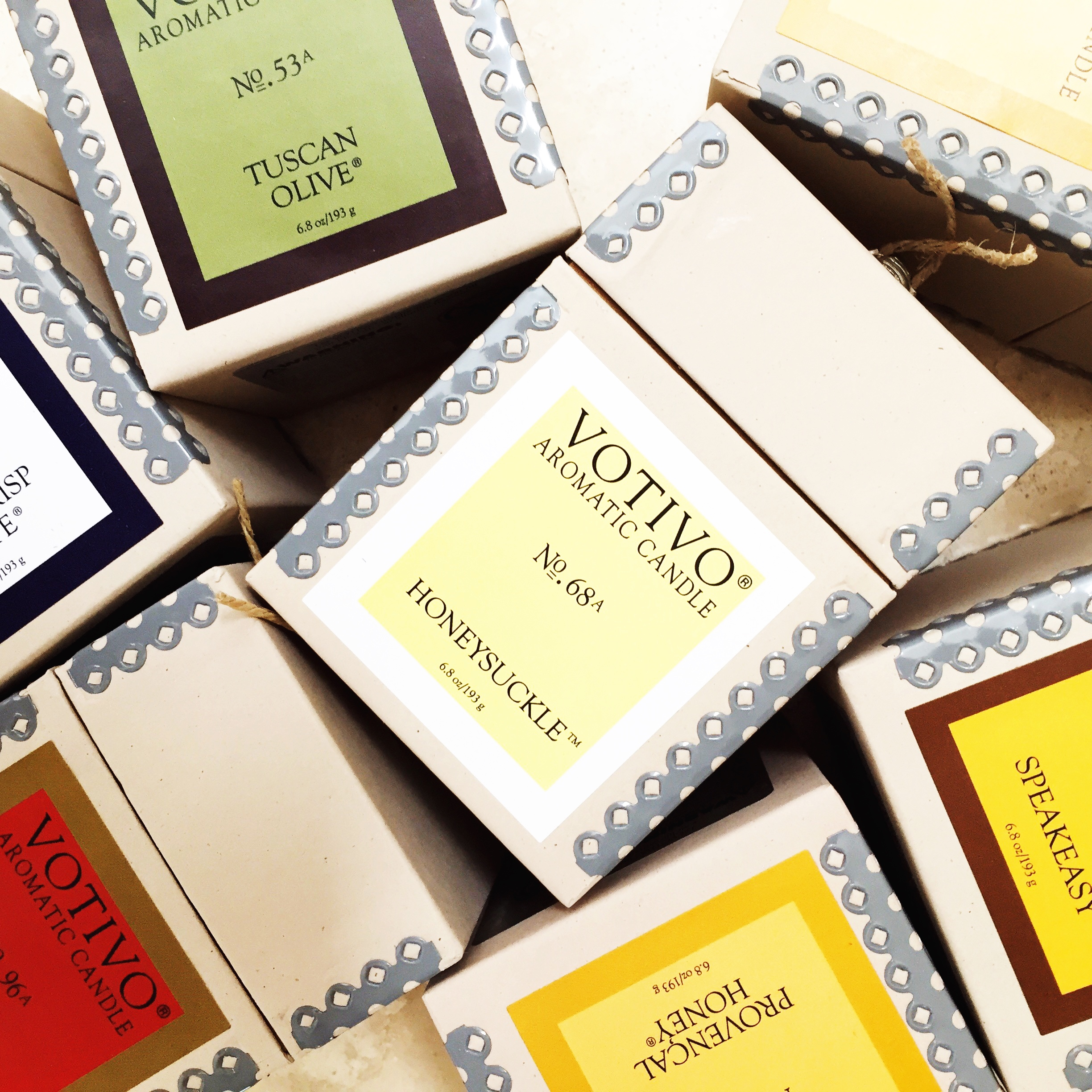 some of my favorite scents from my favorite candle supplier,  Votivo
