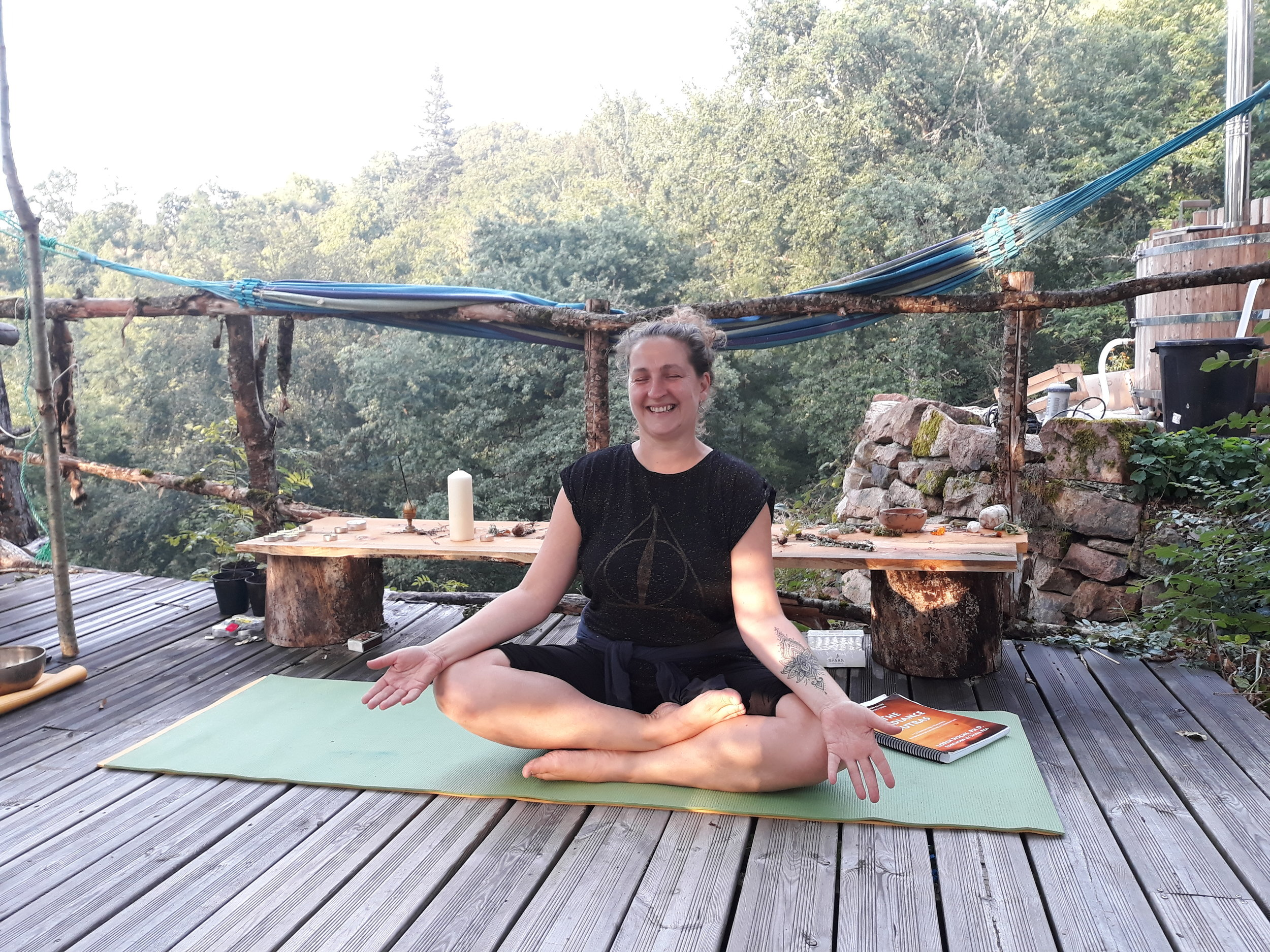 One Very Happy Yoga Teacher