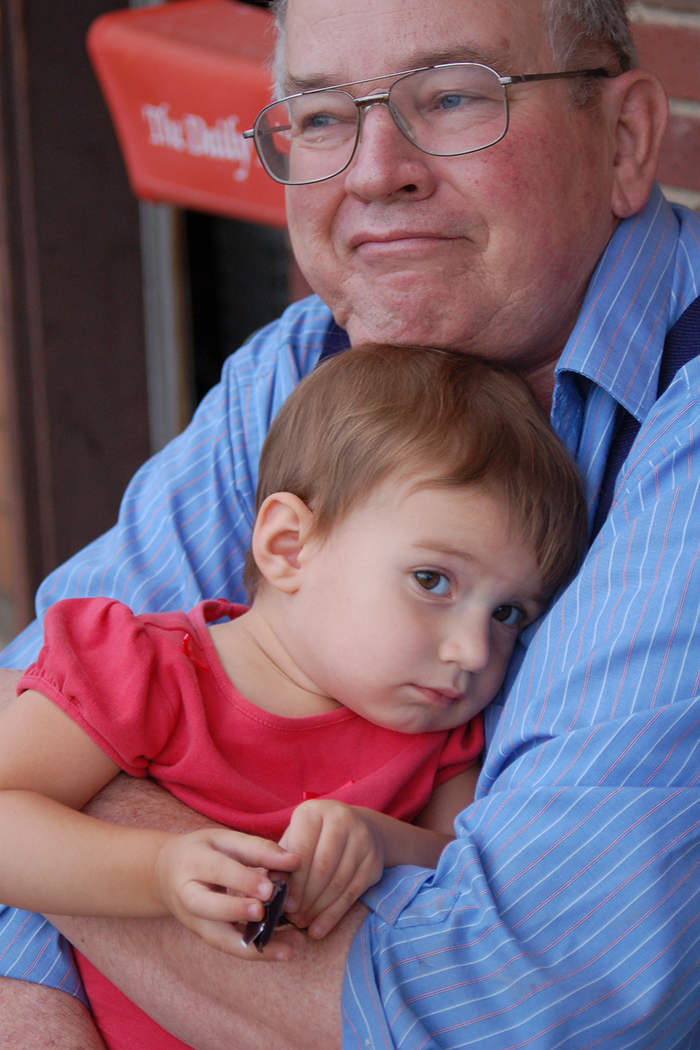 My Dad with my youngest daughter in 2006.  This is one of my favorite images.