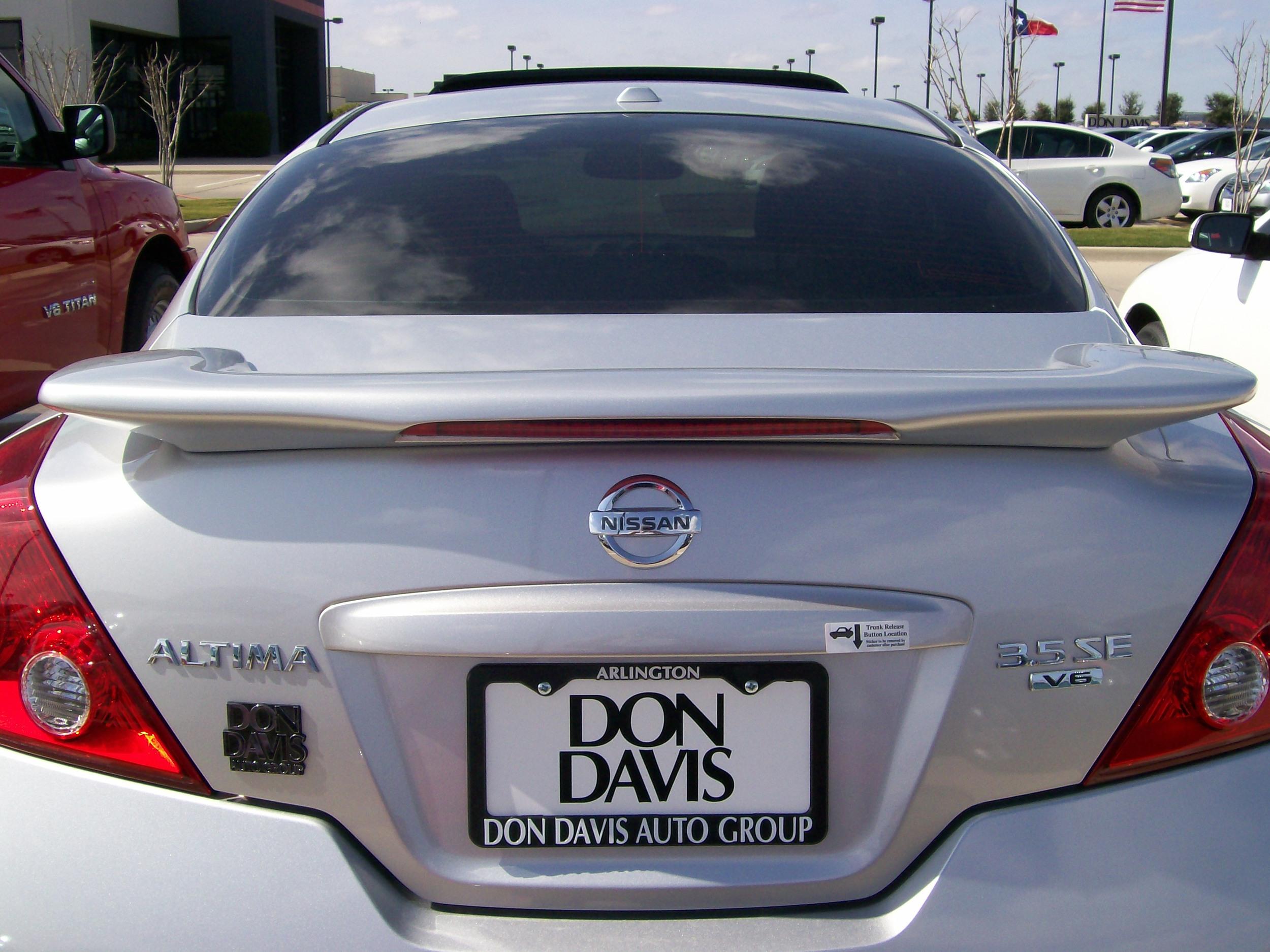 2008-2012 Nissan Altima Coupe Custom Flush Mount Spoiler