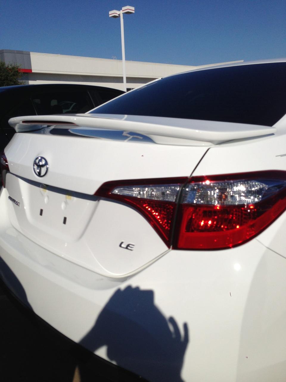 2014+ Toyota Corolla 2-Post Spoiler