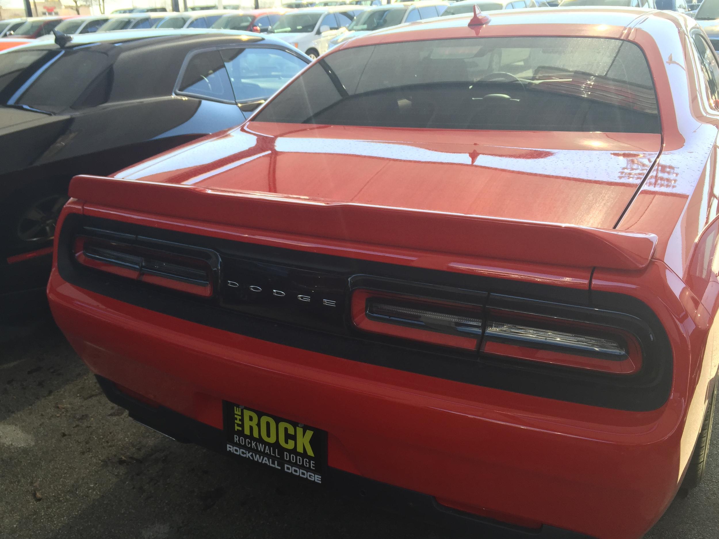2015+ Dodge Challenger Hellcat Style Flush Mount Spoiler