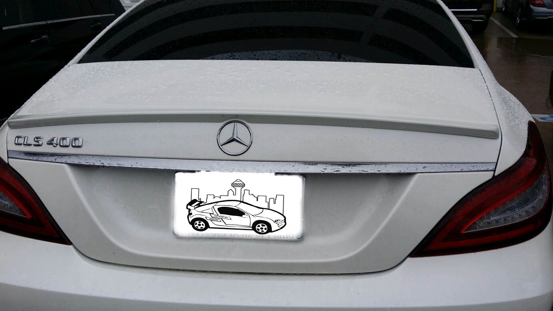 2012+ Mercedes CLS Factory Style Flush Mount Spoiler