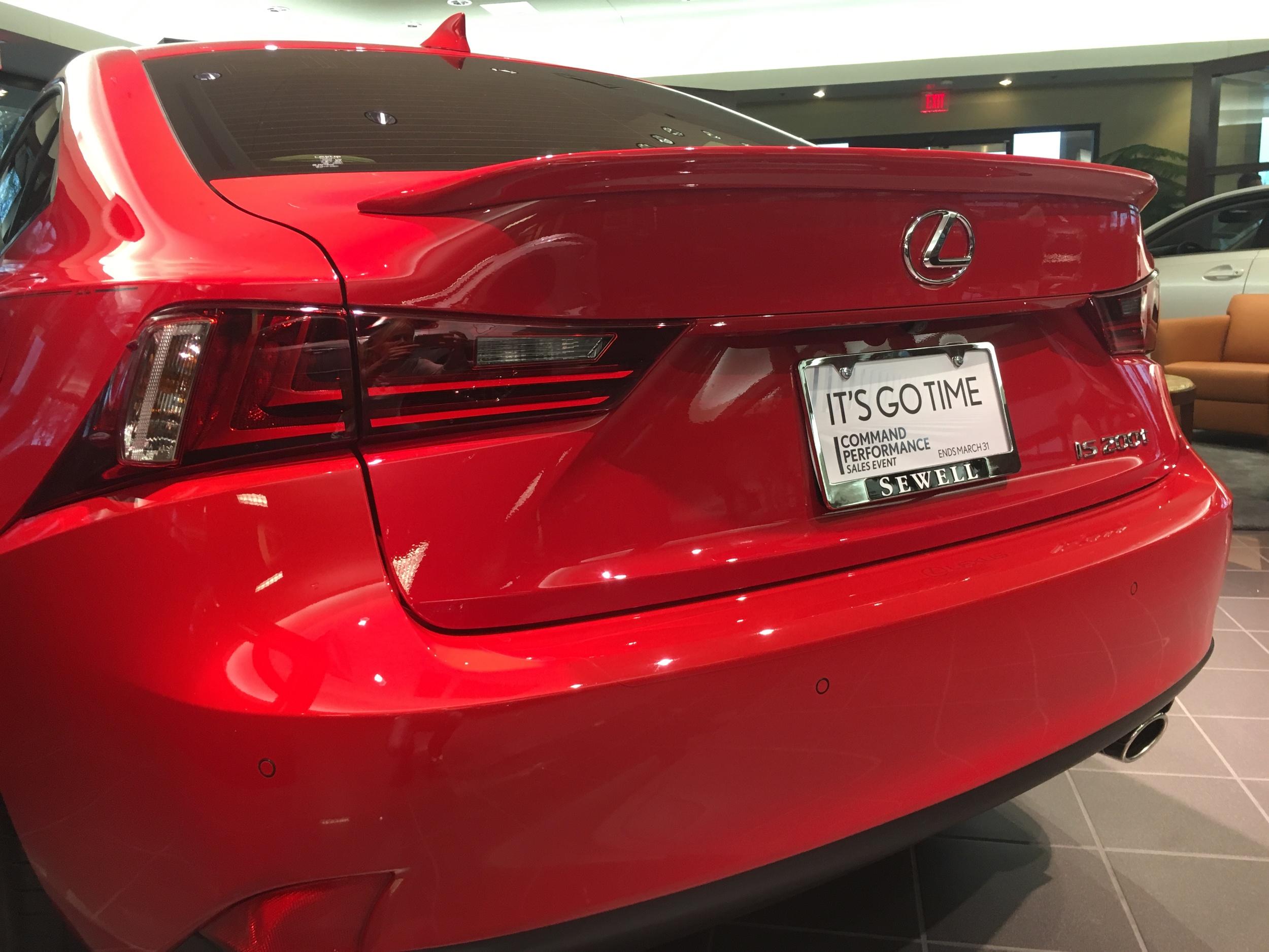 2014+ Lexus IS Custom Flush Mount Spoiler