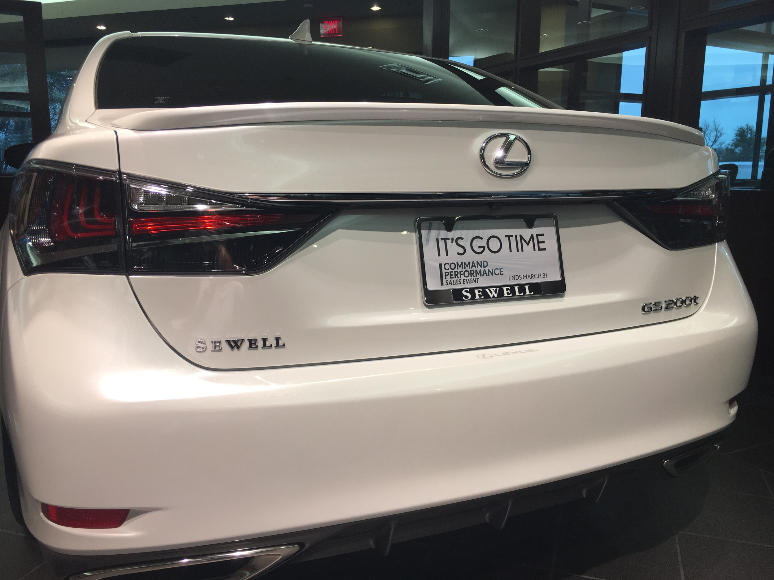 2013+ Lexus GS Factory Style Flush Mount Spoiler