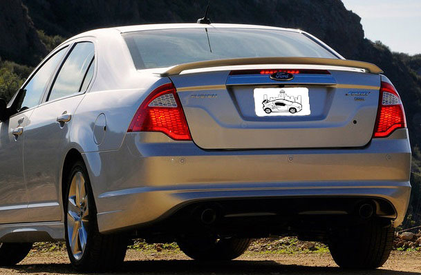 2010-2012 Ford Fusion Factory Style 2-Post Spoiler