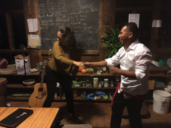 BONUS SHOT: SPONTANEOUS SALSA PARTY AFTER DINNER WITH URIEL SHOWING IRENE AND THE YOUTH HOW IT'S DONE!