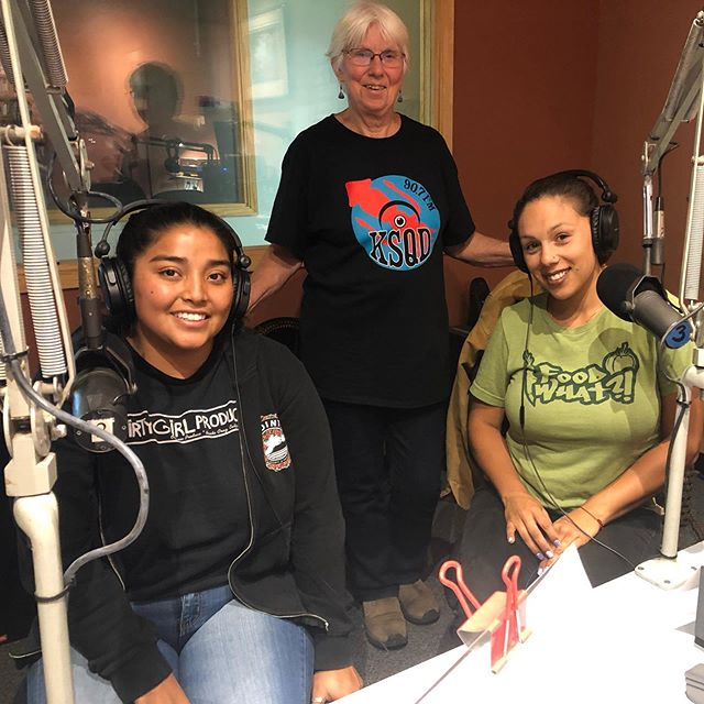Jr.Staff Abi and Programs Manager Irene are on KSQD Community Radio 90.7 fm in Santa Cruz! Catch our interview on air or at KSQD.org 🎤📻📡