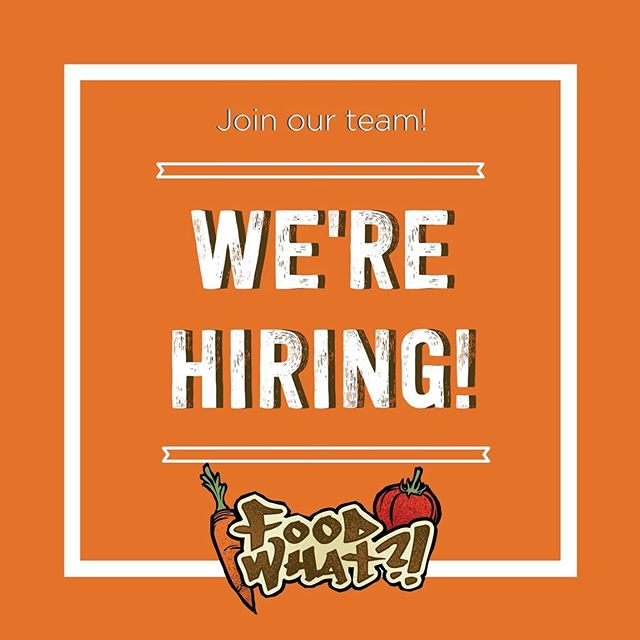 🌾Join our team!🌾 FoodWhat is currently accepting applications for the permanent, full-time position of Operations and Development Coordinator, location Santa Cruz + Watsonville. Visit the link in our bio for details on how to apply!
