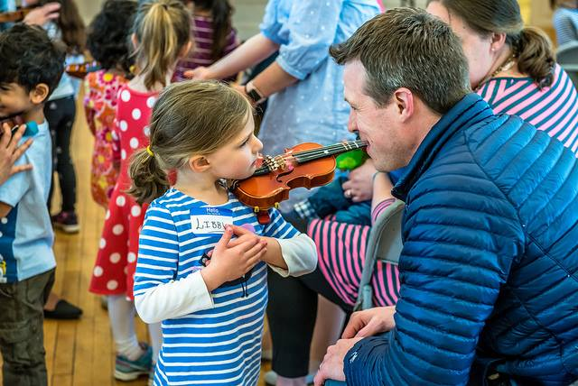 Parental Involvement - The parent is the most important and influential person in a young child's life. Therefore, the parent is the student's primary teacher. In the Suzuki Method, parents learn the basic skills of the instrument along with their child in order to be the
