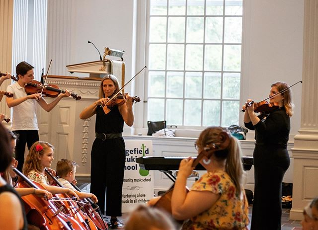 We love how this photo show a literal Suzuki triangle. Pictured are Our three awesome faculty Mrs. Jessica, Ms. Mallory and Ms. Hannah from this years playdown concert! . . . #suzukimethod #suzukiteachers #ridgefieldct #violin #cello #bethelct #danburyct #reddingct #suzukitriangle