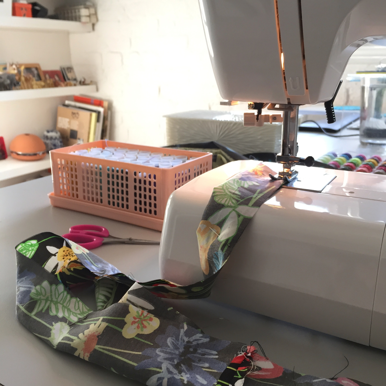 Stitching fabric tubes