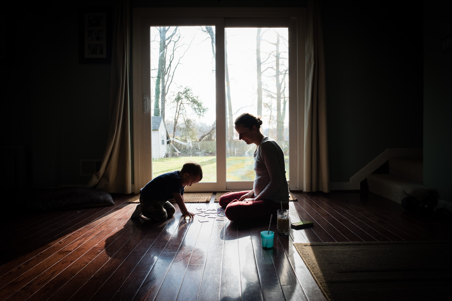 Northern Virginia family lifestyle and documentary photography, m other and son moment of play