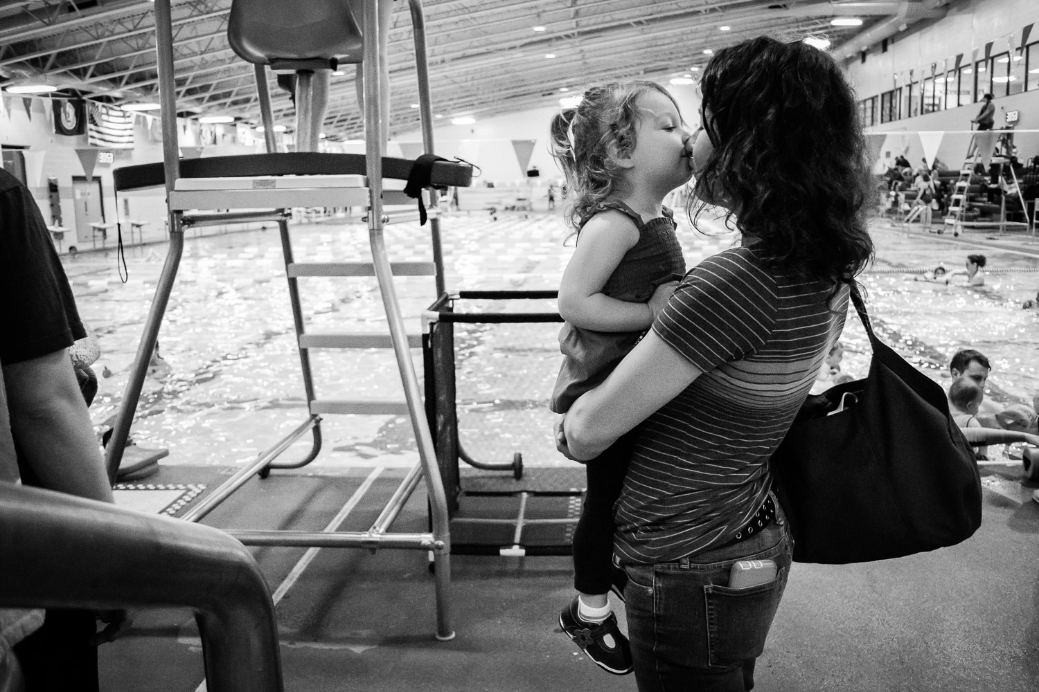 mother daughter, swim lessons, family documentary lifestyle photography