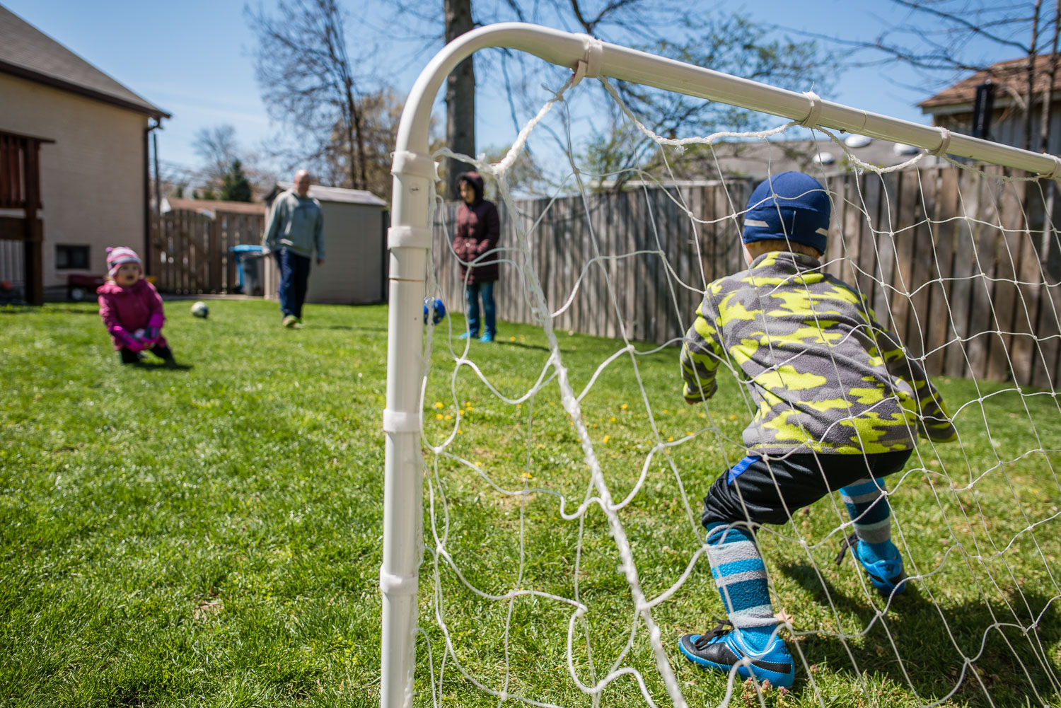 soccer backyard, family documentary and lifestyle photography