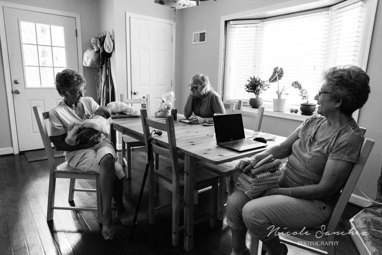 Newborn with Grandparents | Northern Virginia Documentary Photographer