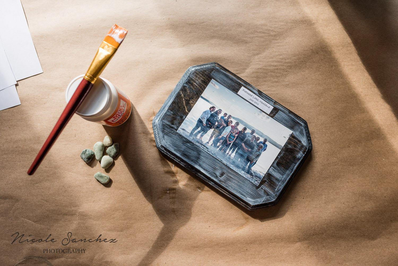 od podge drying on wood photo display | northern virginia family photographer