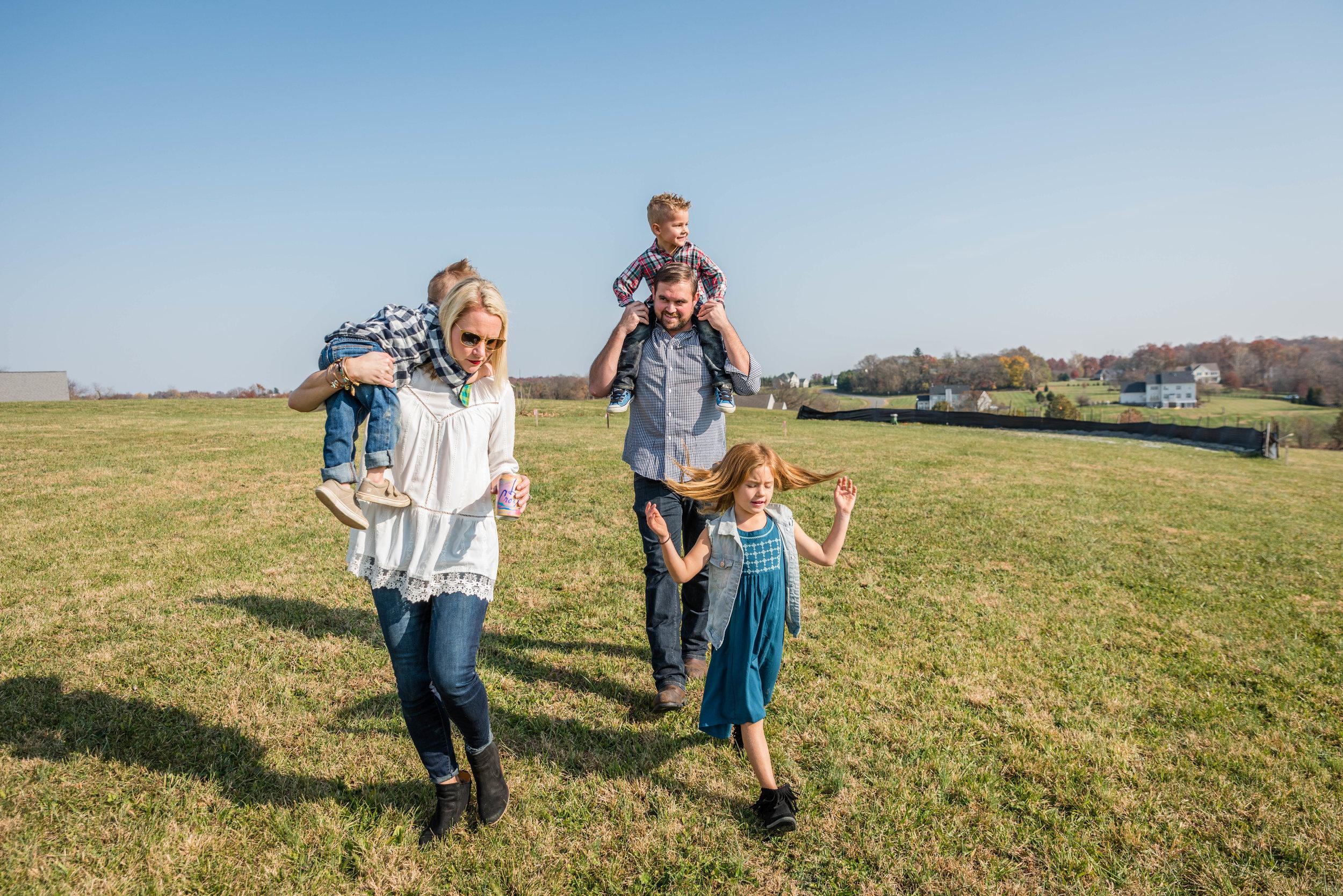 Candid family unposed outdoors by NOVA Family Photographer Nicole Sanchez