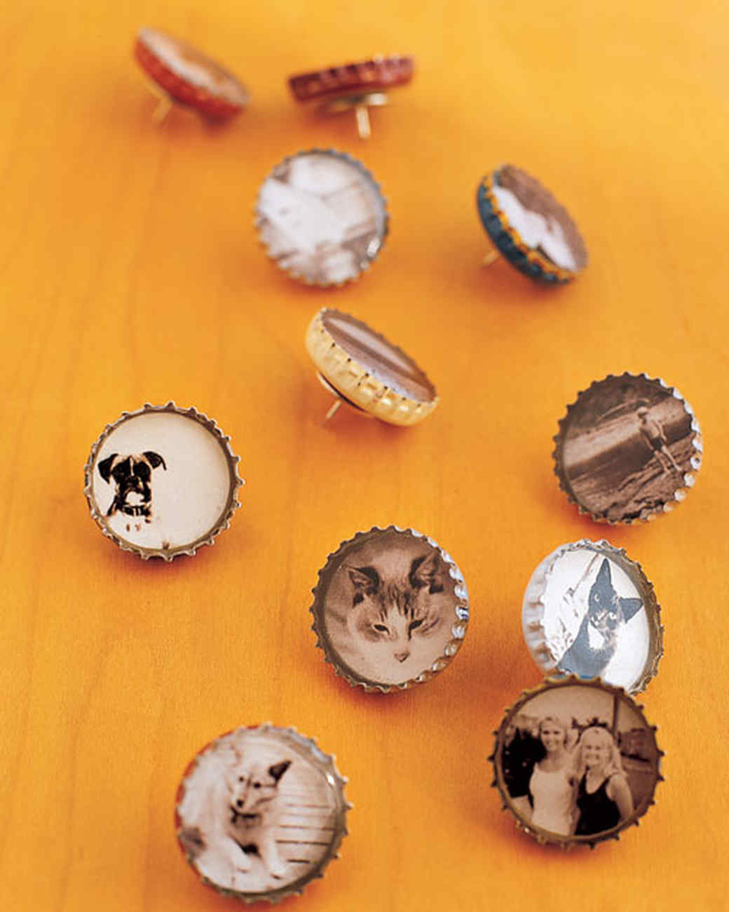 Bottle Cap Magnet Tutorial from Martha Stewart | Photo by James Merrell