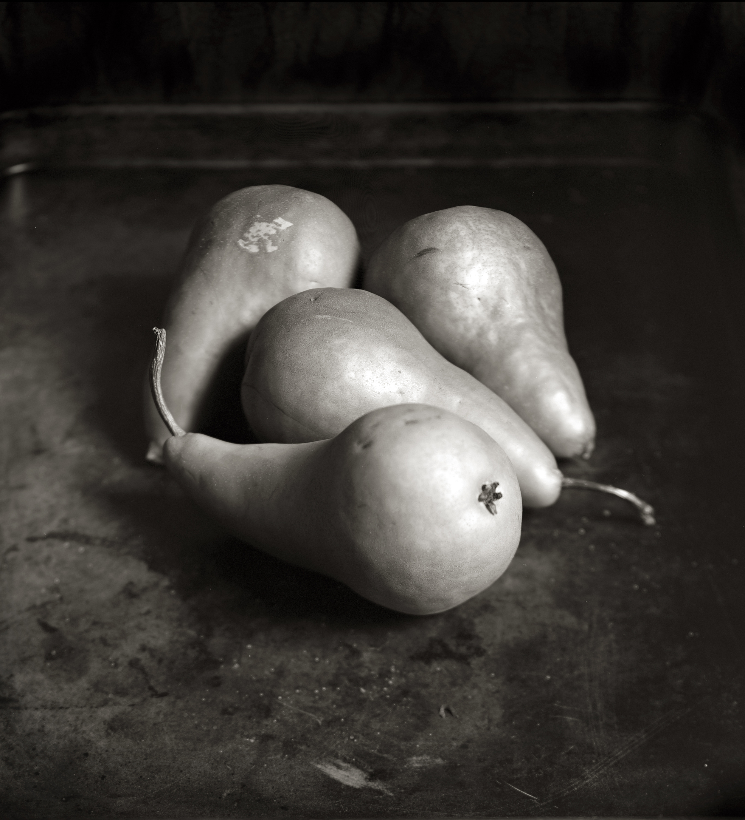 PEARS, SCAR FROM A LABEL