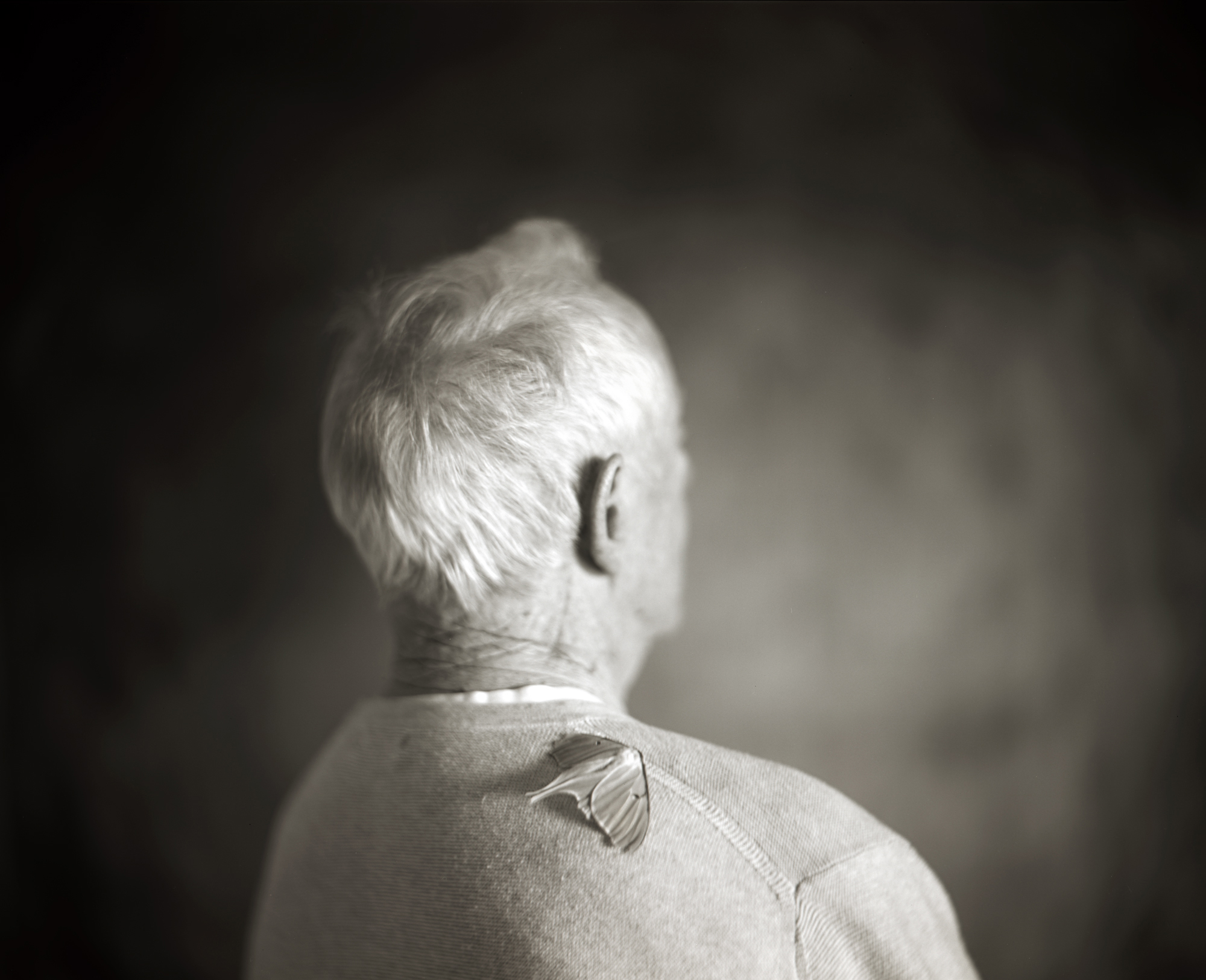 ETERNITY, DAD AT 91  TONED GELATIN SILVER PHOTOGRAPH