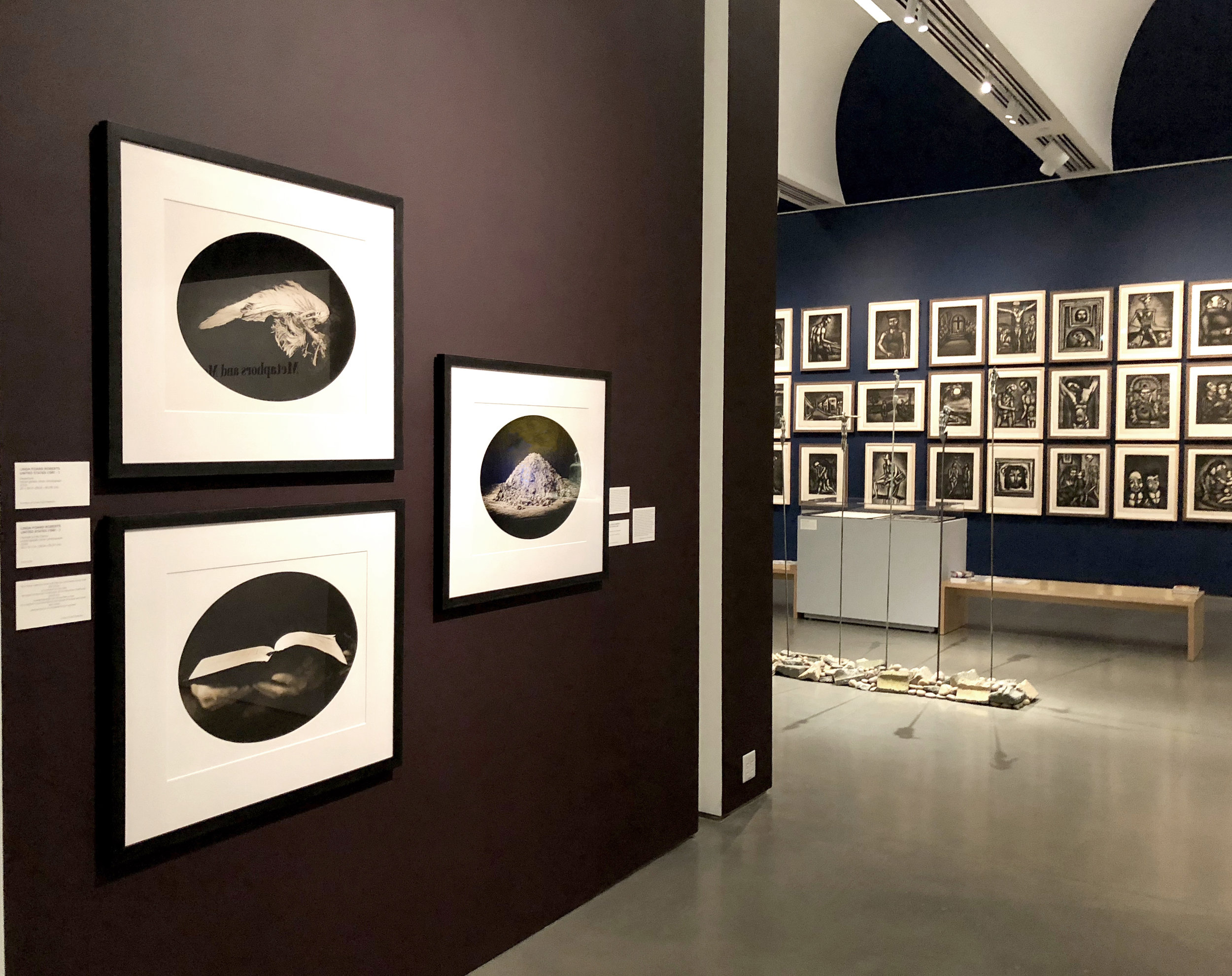 BECHTLER MUSEUM OF ART  WRESTLING THE ANGEL EXHIBITION  WITH ANDY WARHOL, MARC CHAGALL, GEORGES ROUAULT, JEAN TINGUELY AND OTHERS, 2018