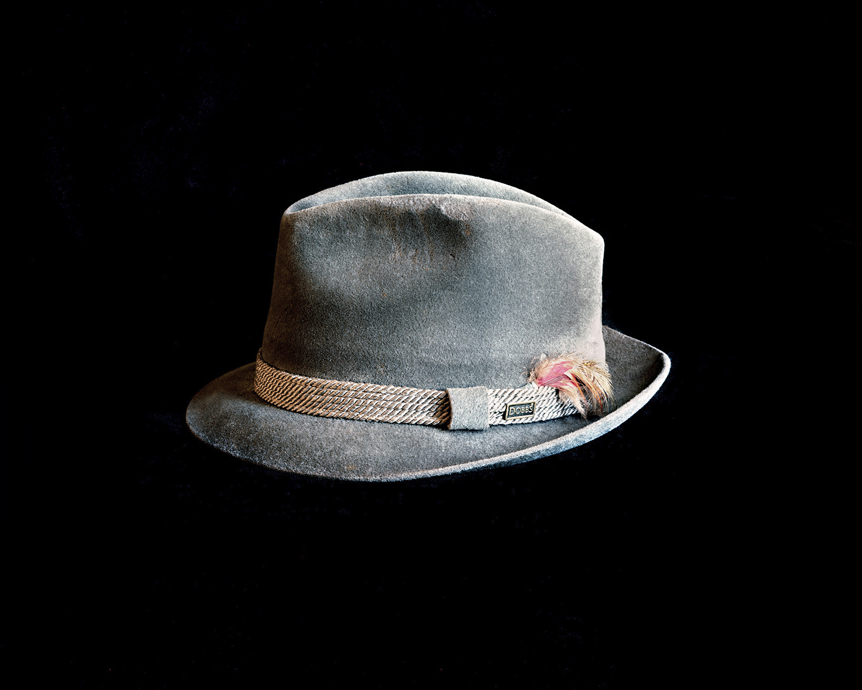TRACES, MY FATHER'S HAT WITH FINGERPRINTS
