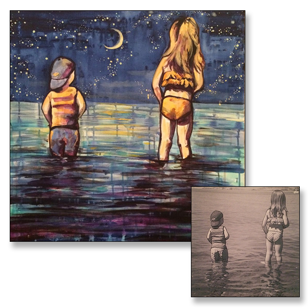 "Moonlight, 20x20"", Acrylic on Canvas, C 2015"