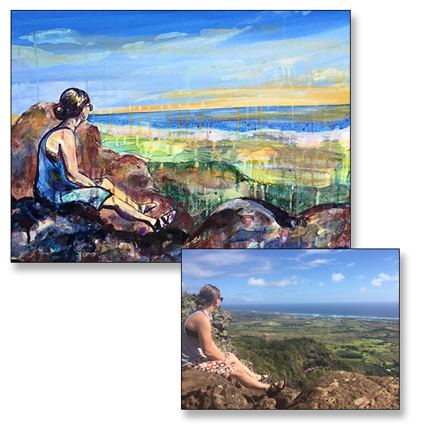 "Views, 18x24"", Acrylic on Canvas, C 2017"