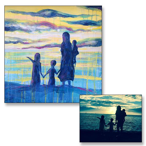 "Sunset, 20x20"", Acrylic on Canvas, C 2017"