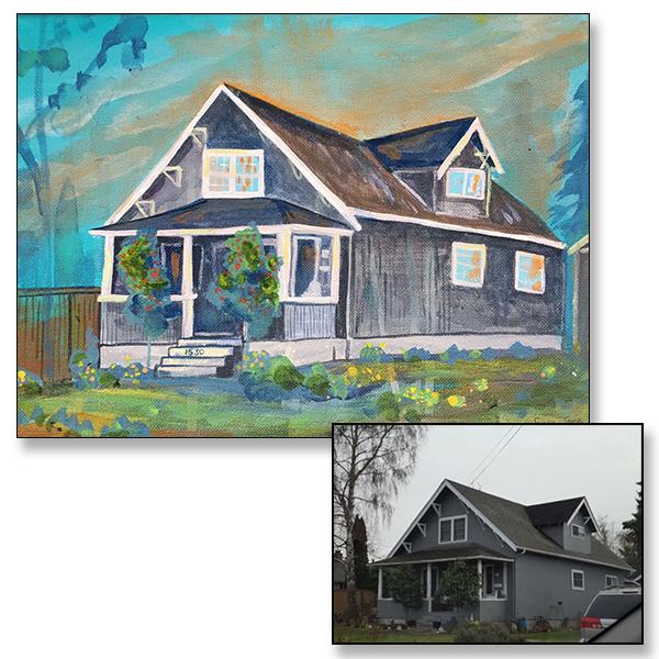 "Home Sweet Home, 14x10"", Acrylic on Canvas, C 2017"