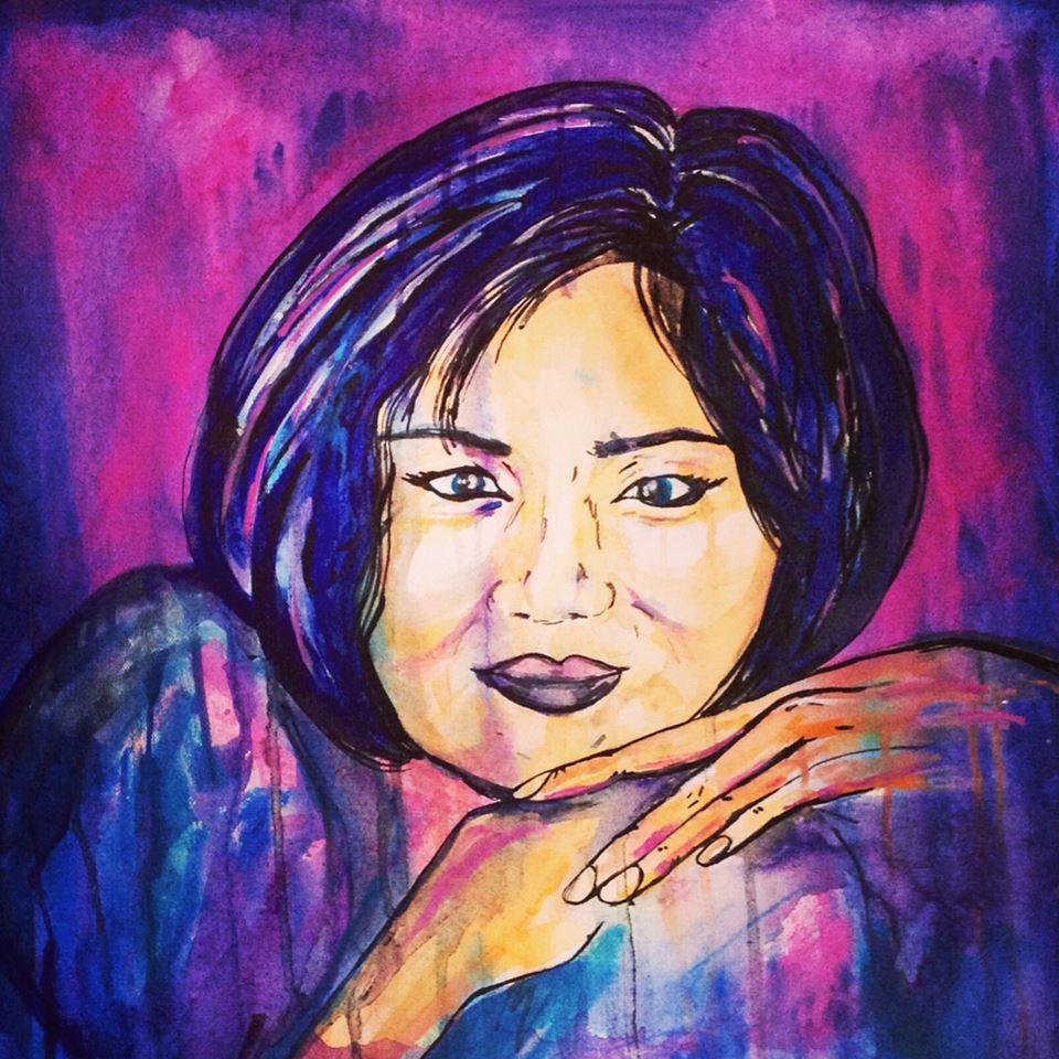 """Custom, 20x20"""", Acrylic on Canvas, C 2013"""