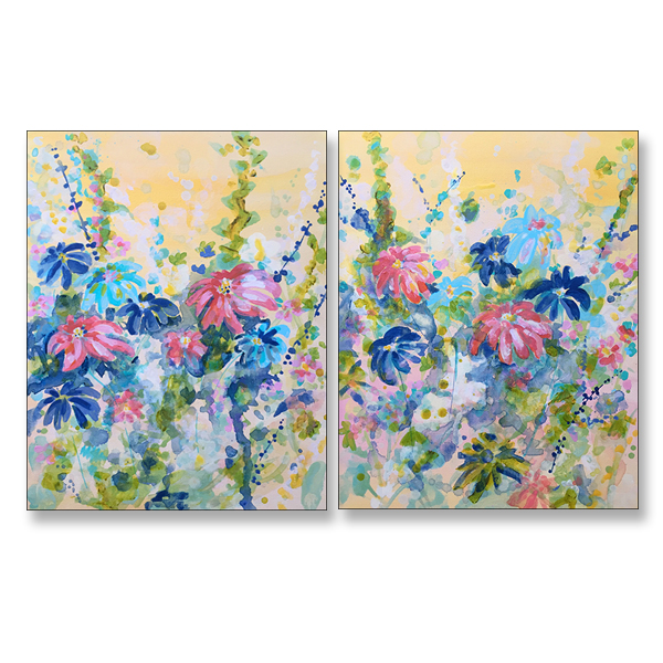 Daisy Daze I & II, 16x20, Acrylic on Stretched Canvas