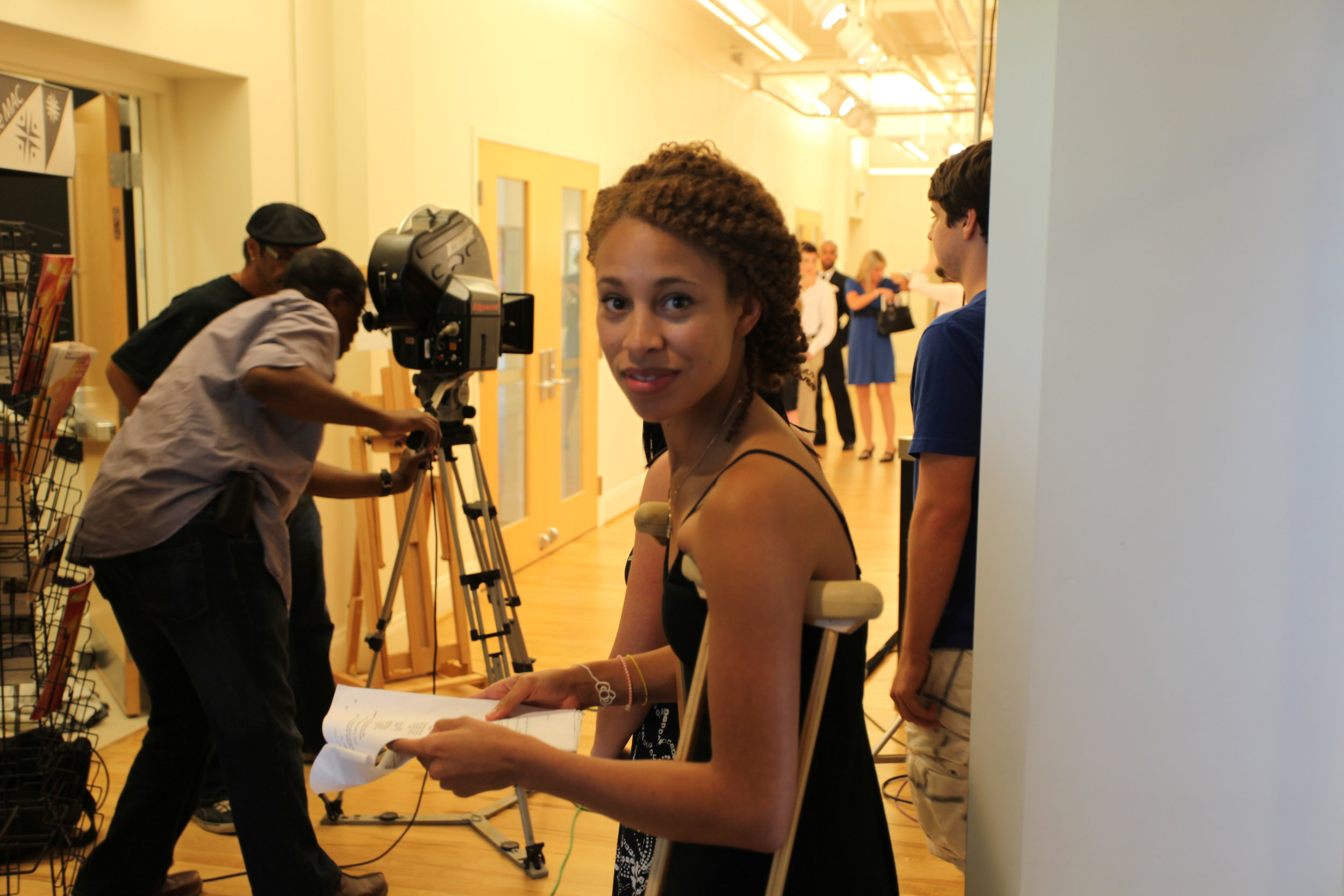 Actress Brooklyn Sabino Smith w Director Nelson in BG..JPG