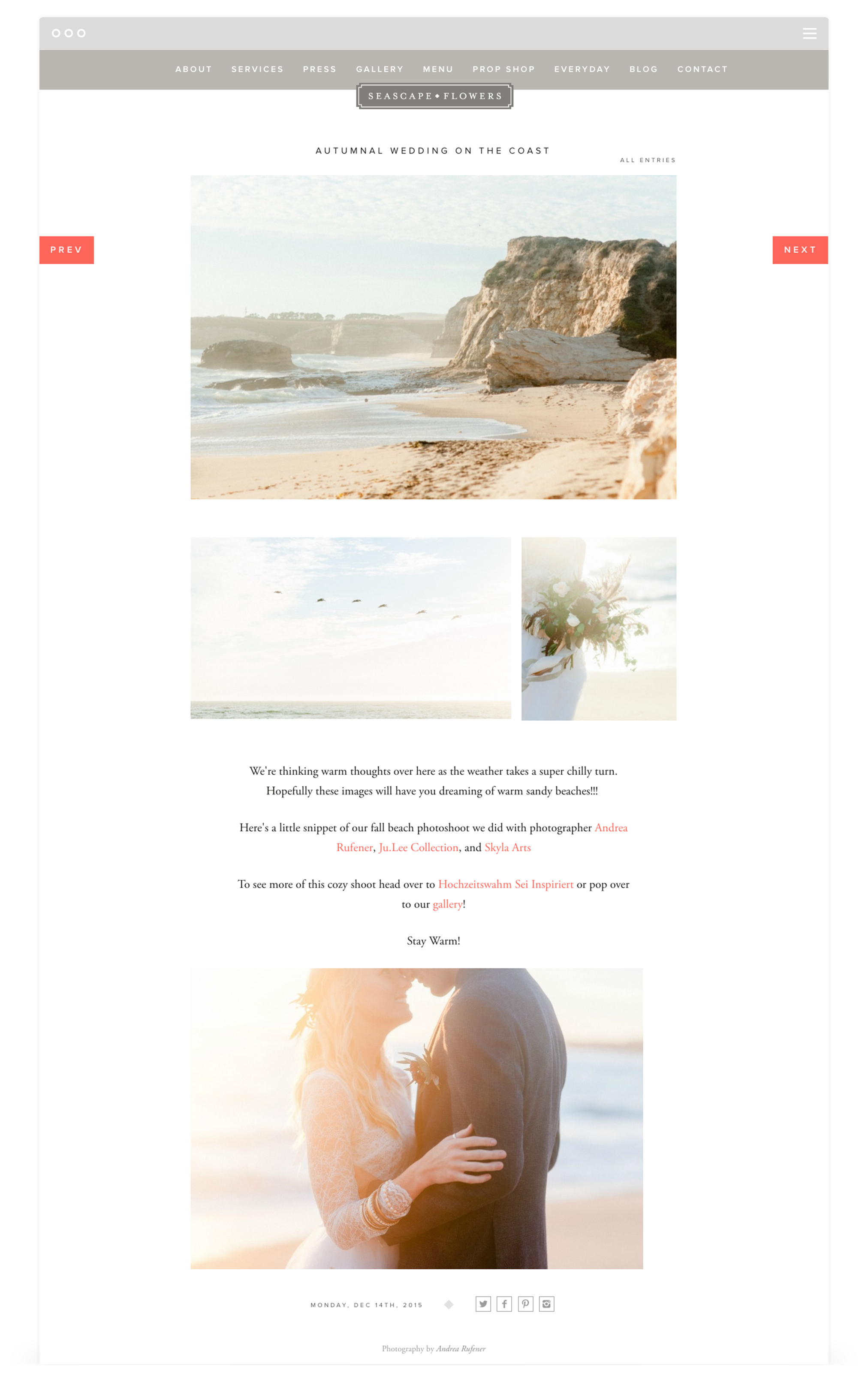 Responsive Website Design for Seascape Flowers by Second + West