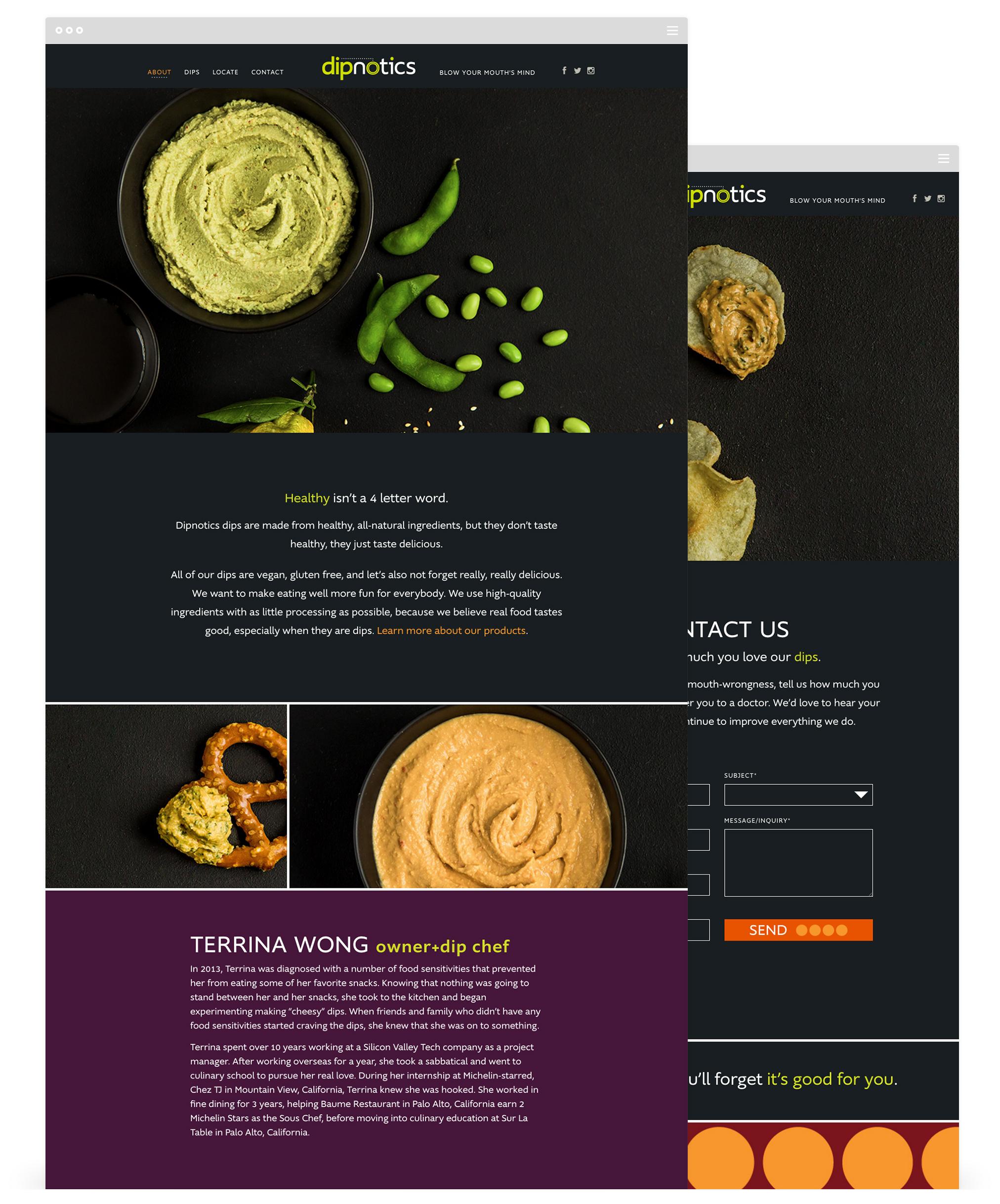 Website Development by Second + West for Dipnotics Dips