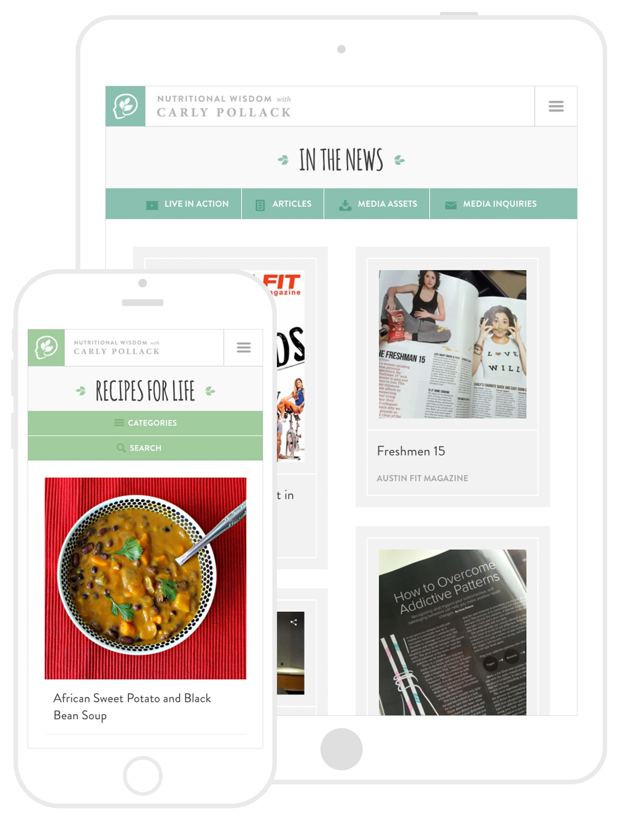 Nutritional Wisdom Website Development by Second + West