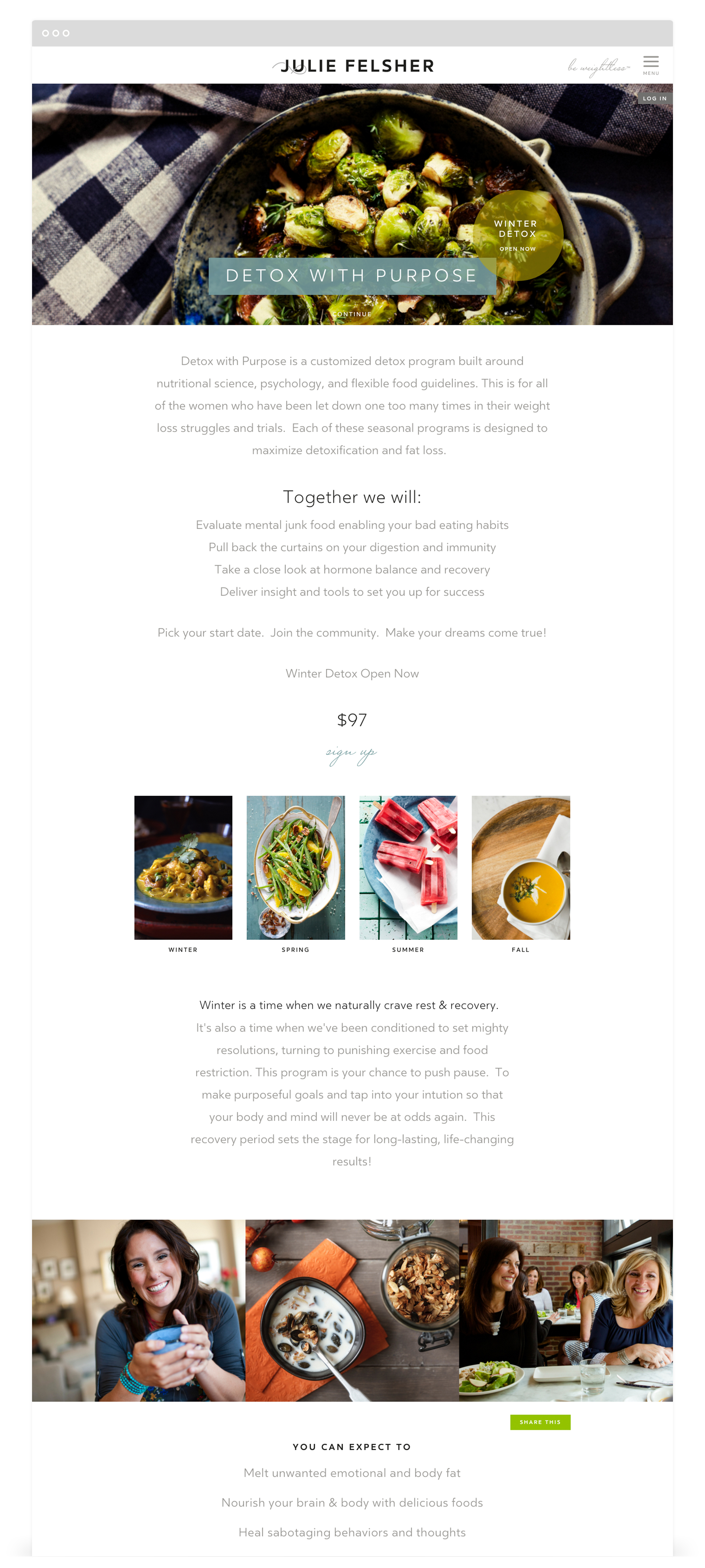Responsive Web Design by Second + West for Julie Felsher