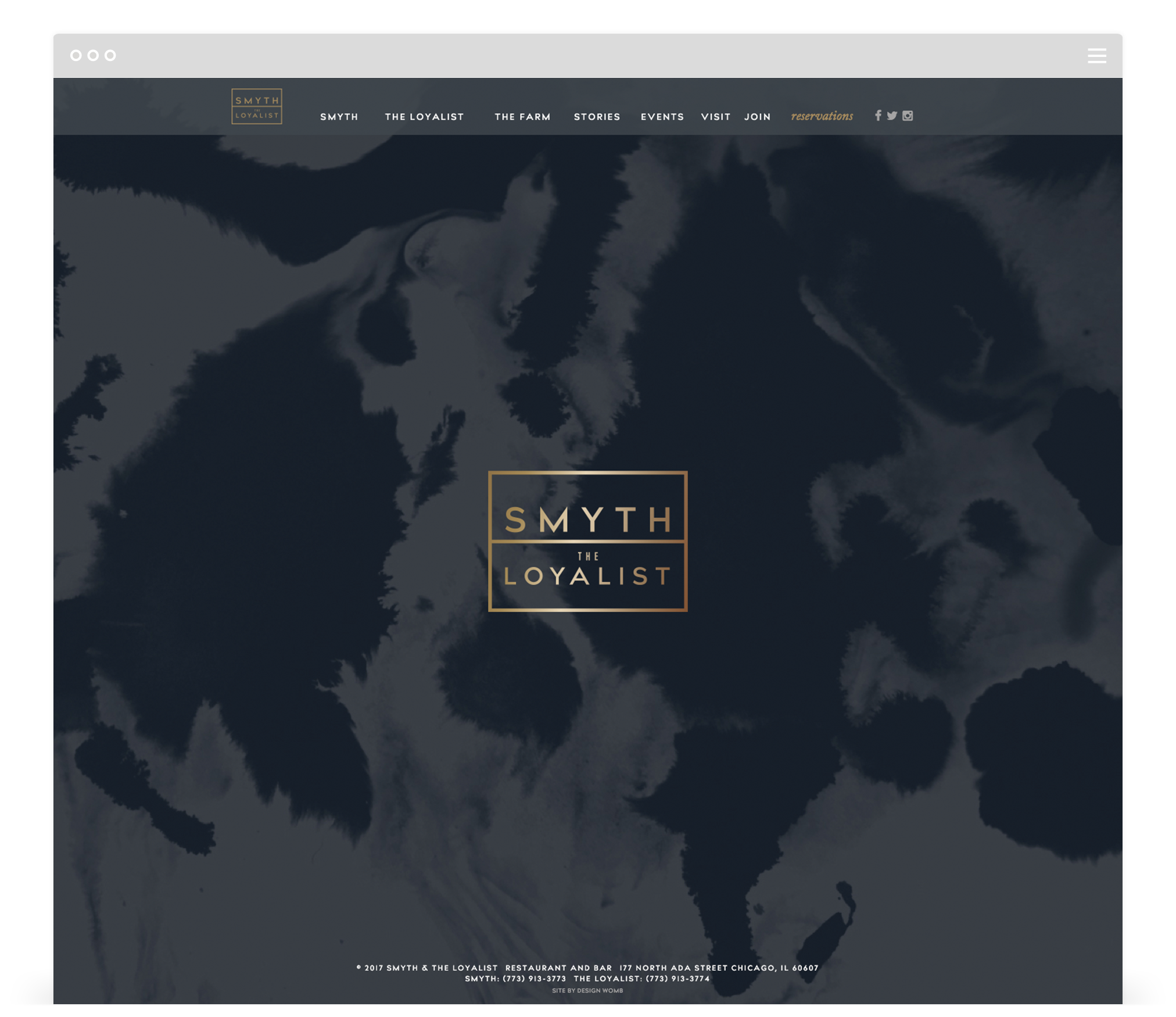 Smyth & The Loyalist - Home Page - Chicago Restaurants from John Shields & Karen Urie