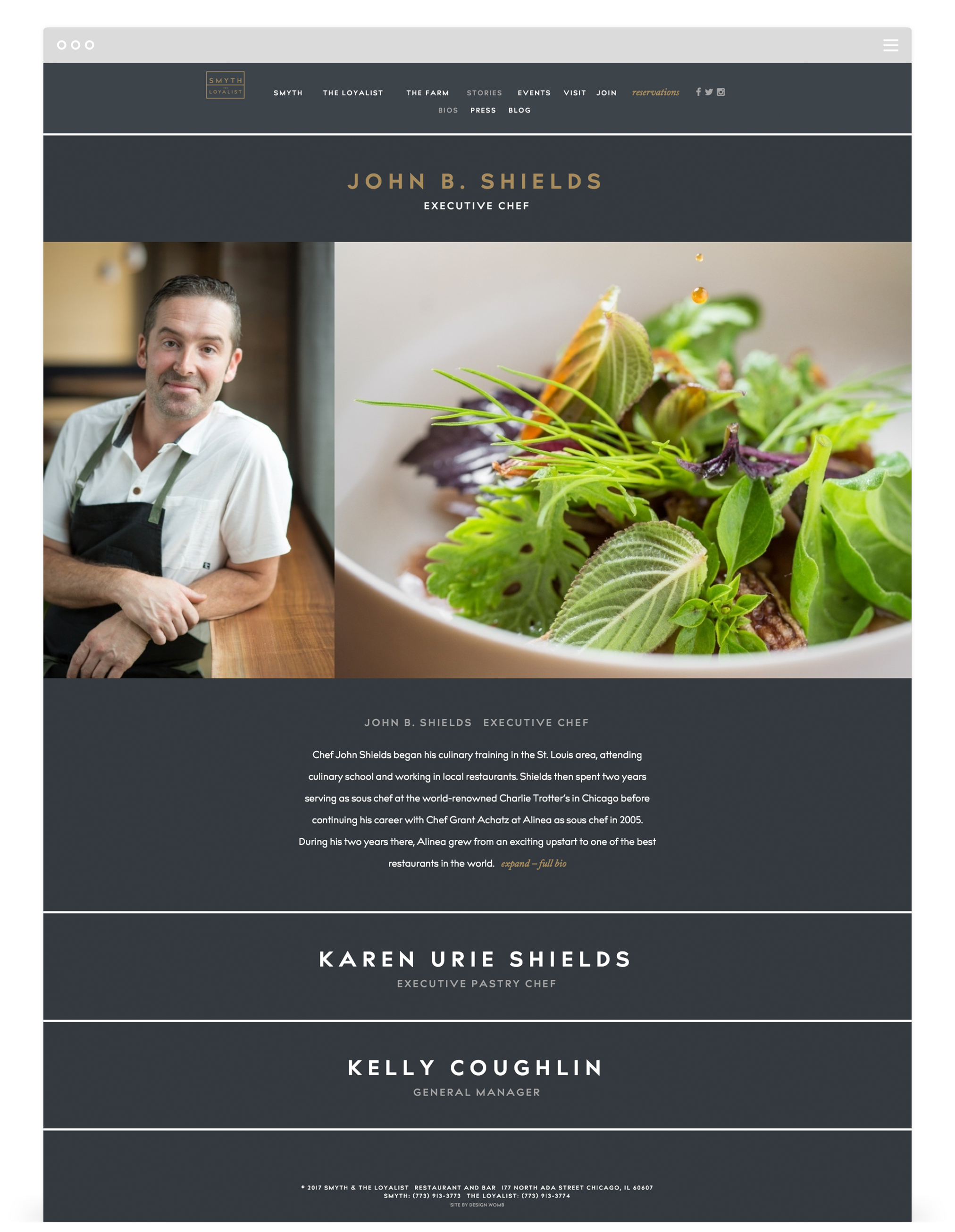 Website Development by Second + West for Smyth & The Loyalist in Chicago, IL