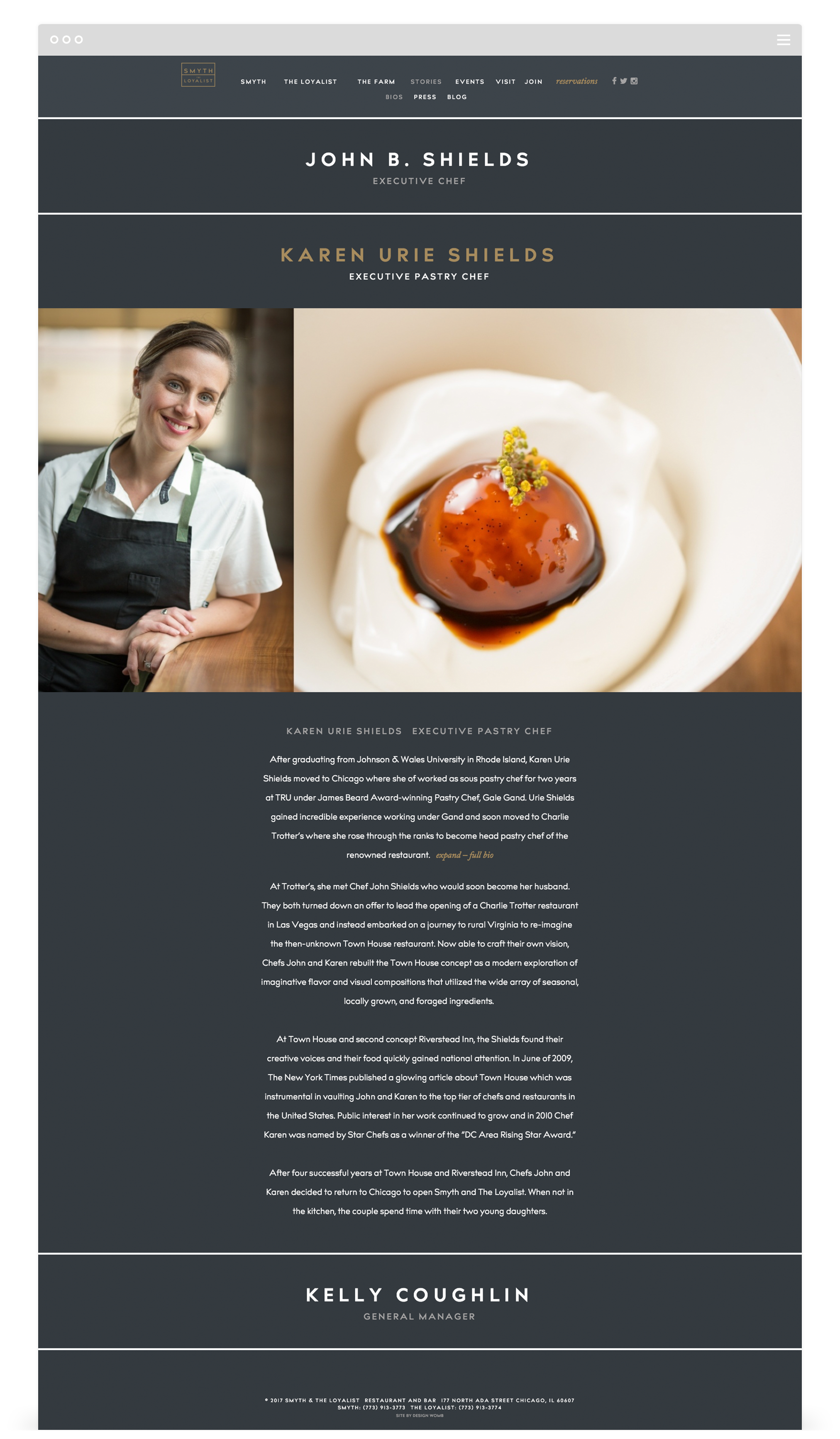 Responsive Website Design for Smyth & The Loyalist by Second + West
