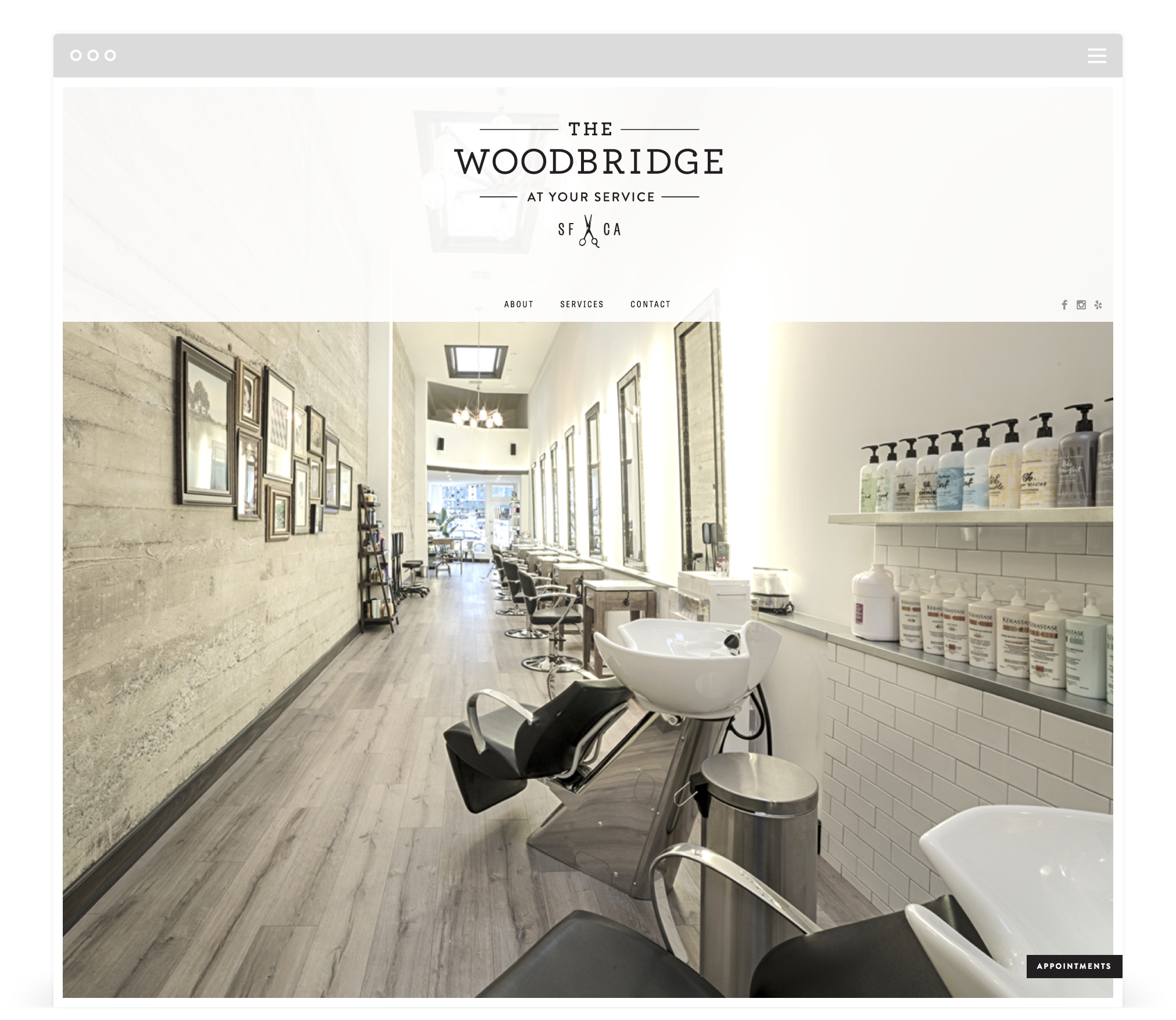 Website Development by Second + West for The Woodbridge in San Francisco, CA